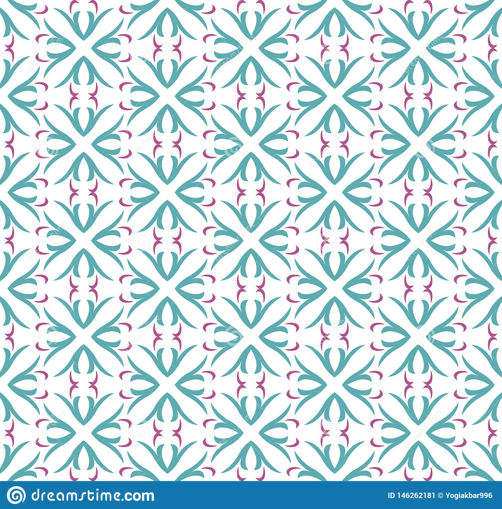 Naadloos abstract bloemenpatroon symmetrie moderne stijl