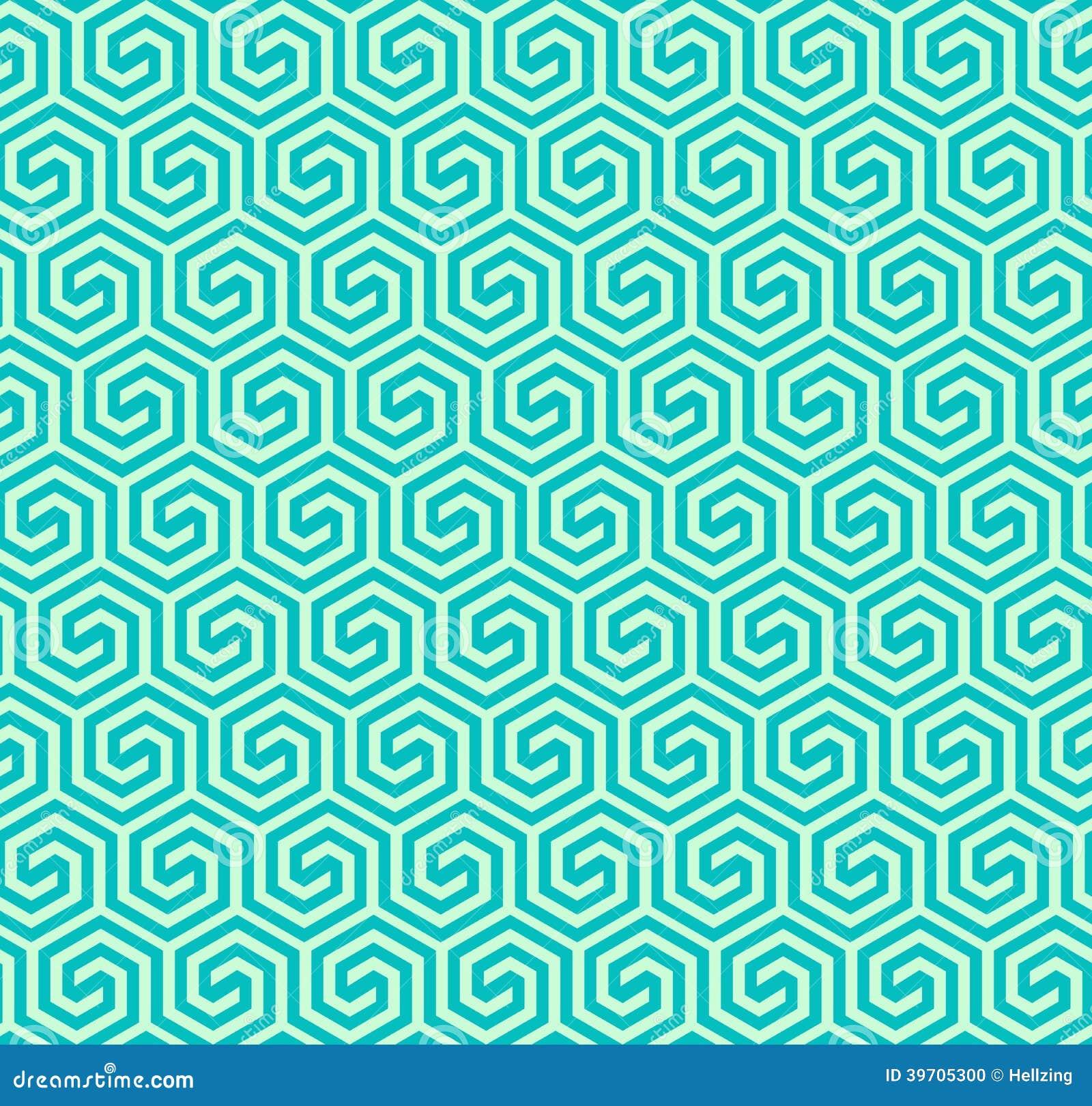 Naadloos abstract geometrisch hexagonaal patroon - vectoreps8