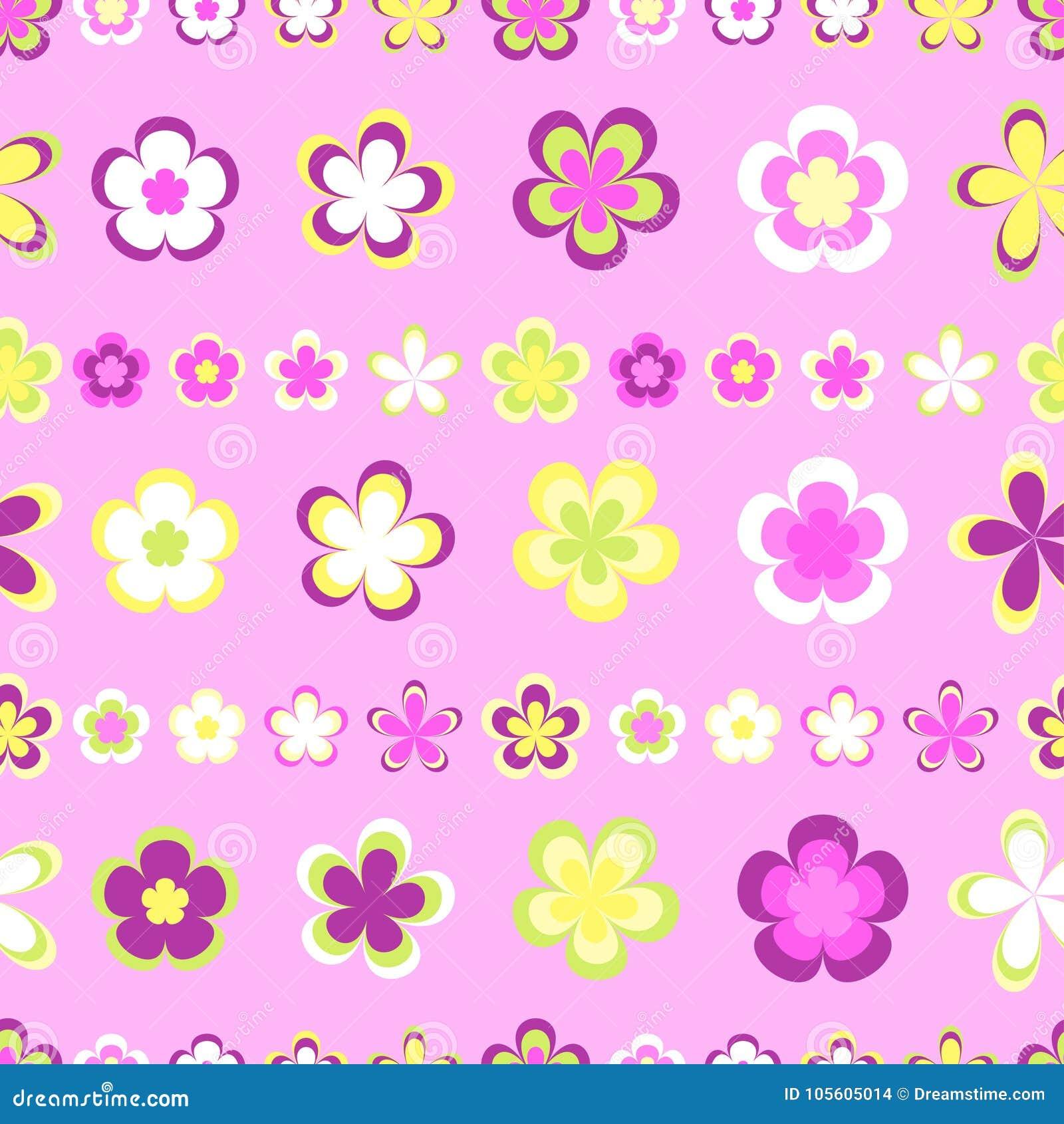 Naadloos abstract gestreept patroon van leuke roze en bruine geometrisch