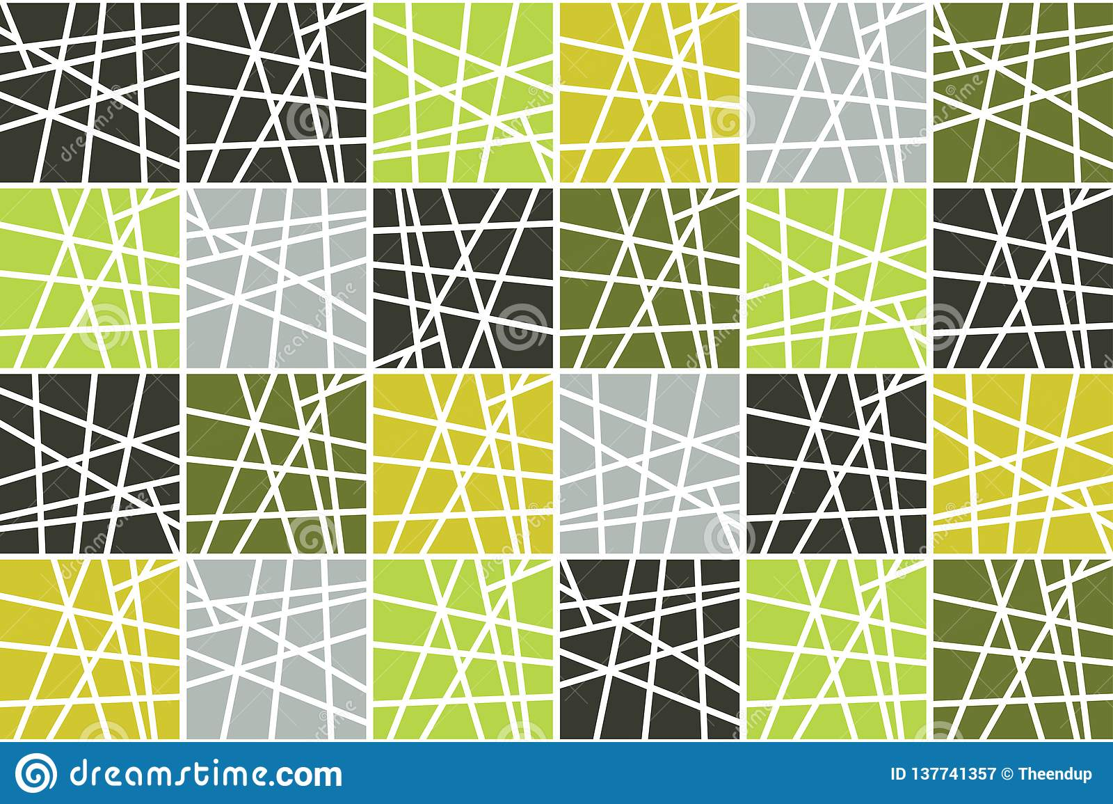 Naadloos, abstract patroon als achtergrond die met gestreepte vierkanten wordt gemaakt