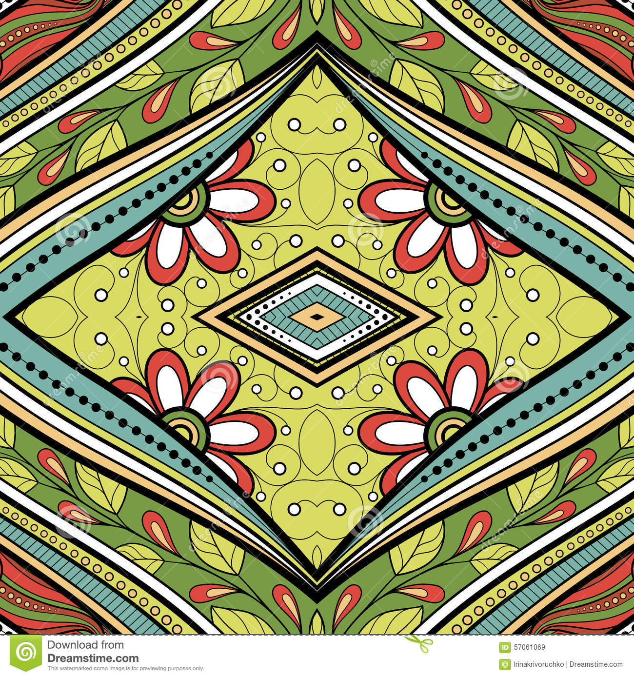 Naadloos Abstract Stammenpatroon (Vector)