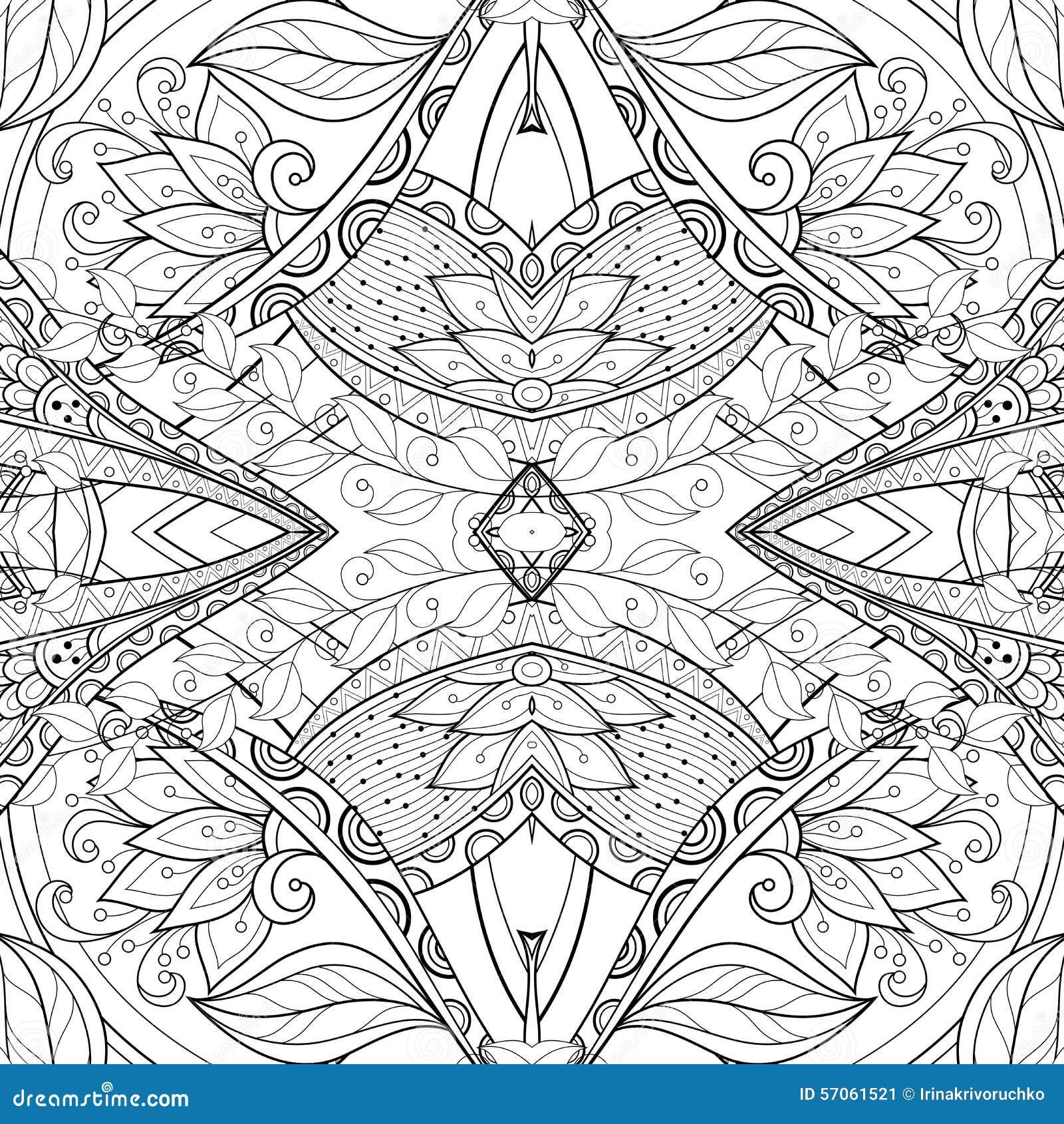 Naadloos Abstract Stammenpatroon (Vector)