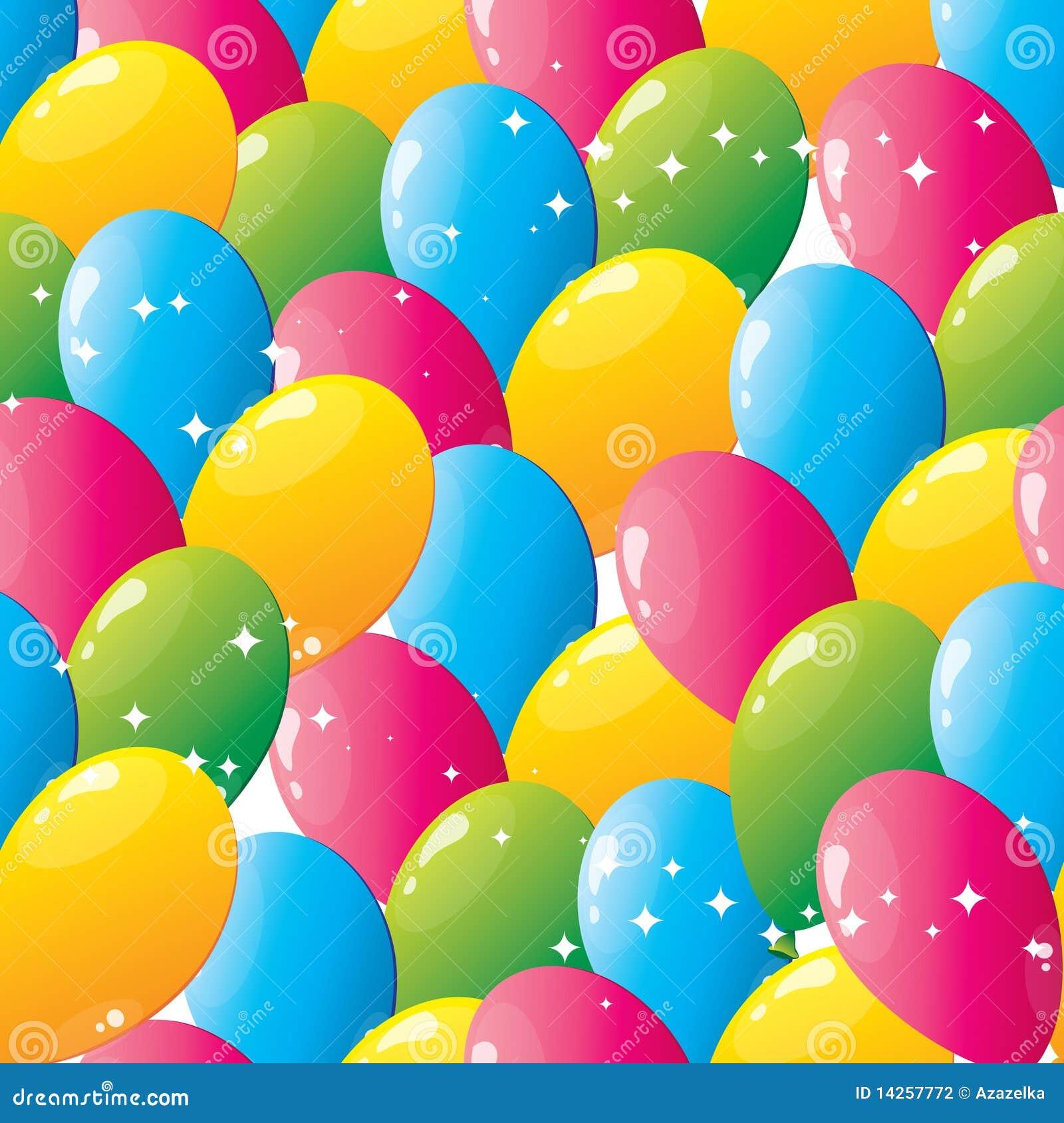 Naadloos ballonspatroon