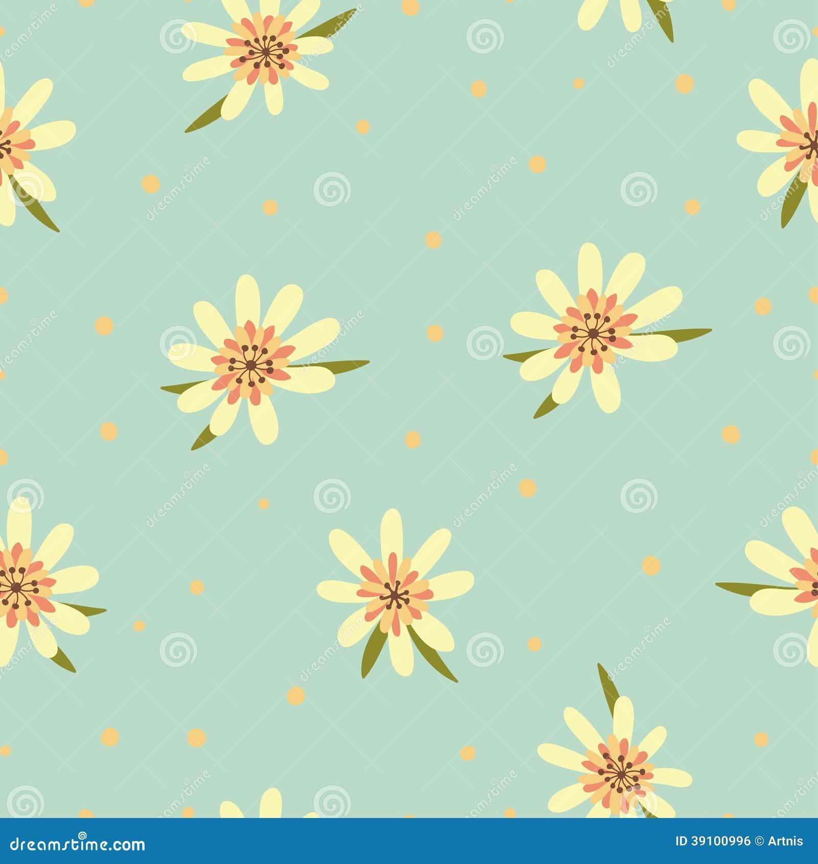 Naadloos bloemenpatroon. Bloementextuur.