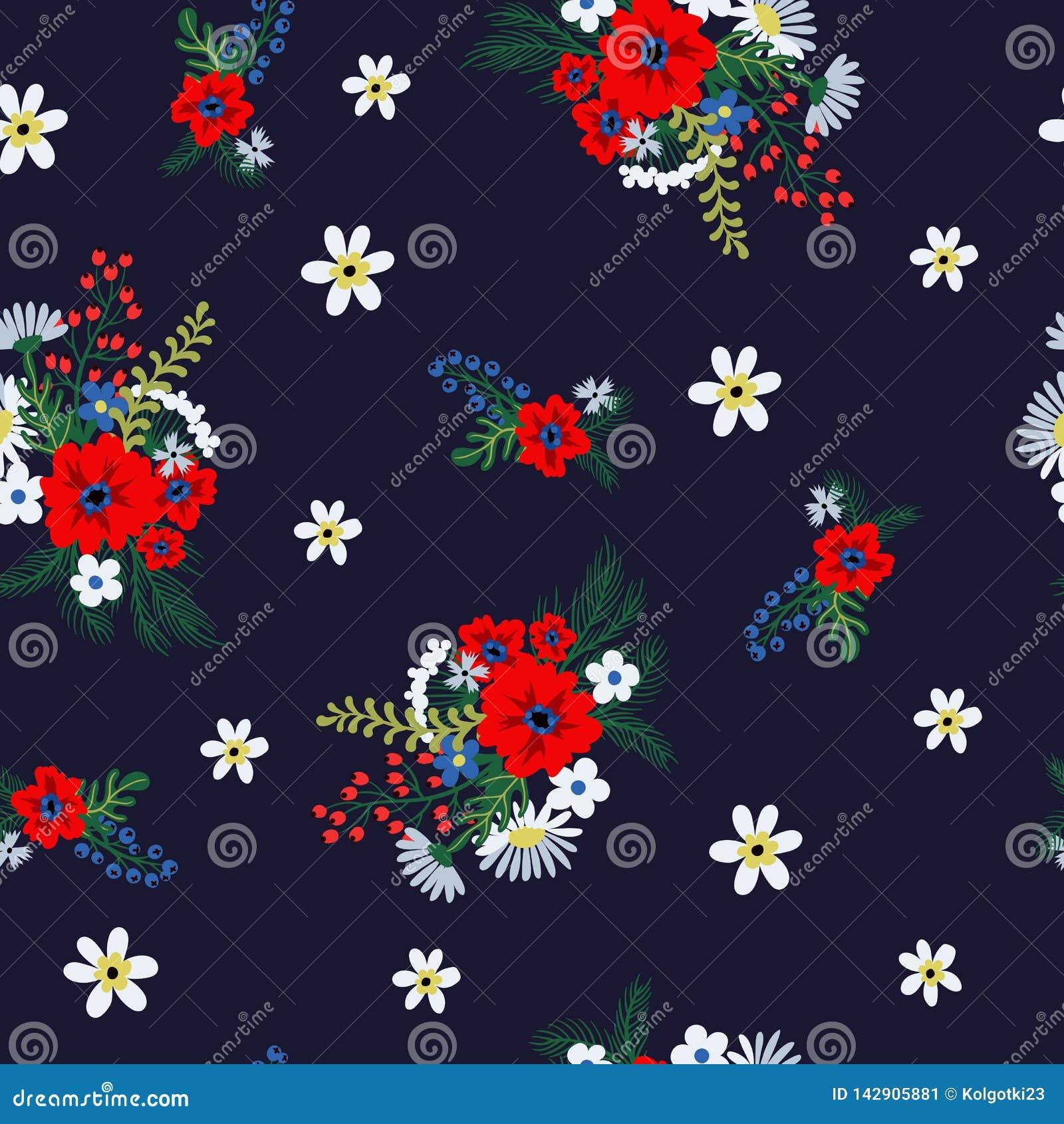 Naadloos bloemenpatroon met leuke kleine ditsy bloemen Vector illustratie
