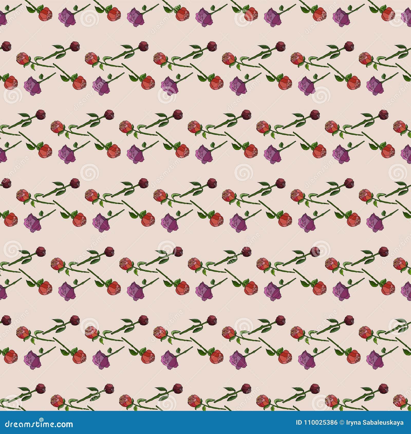 Naadloos bloemenpatroon met pioenen