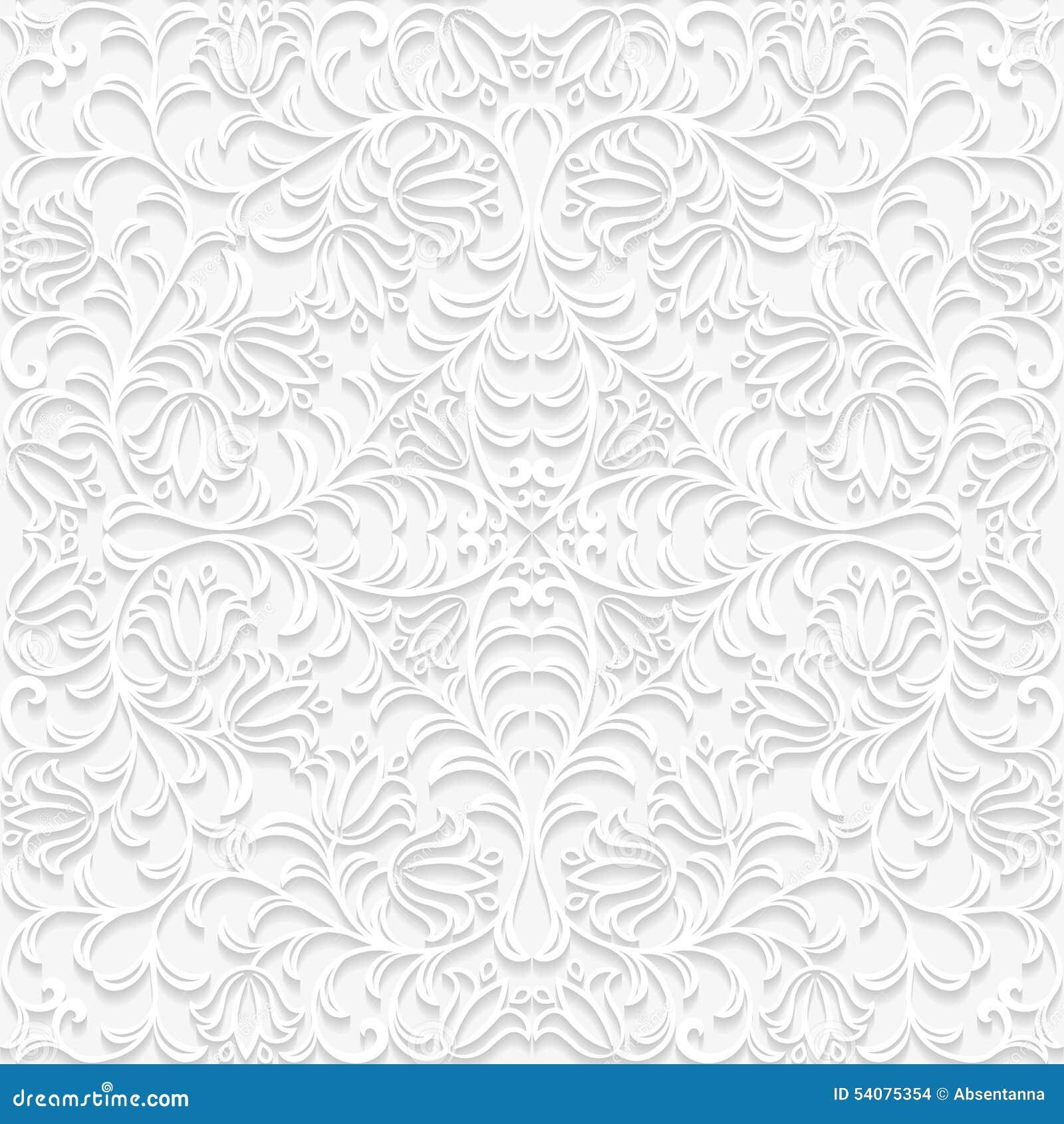 Naadloos bloemenpatroon in in traditionele stijl