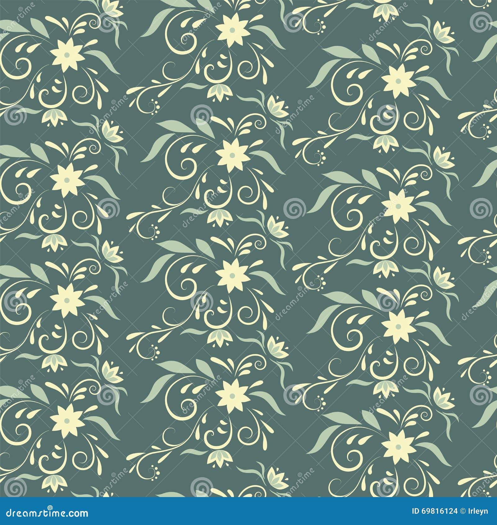 Naadloos bloemenpatroon voor behang of stof vector illustratie afbeelding 69816124 - Stof voor tuinmeubilair ...