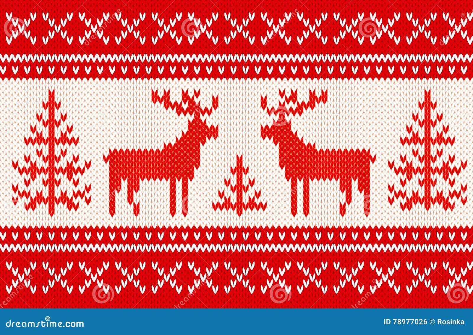 Naadloos breiend patroon met deers
