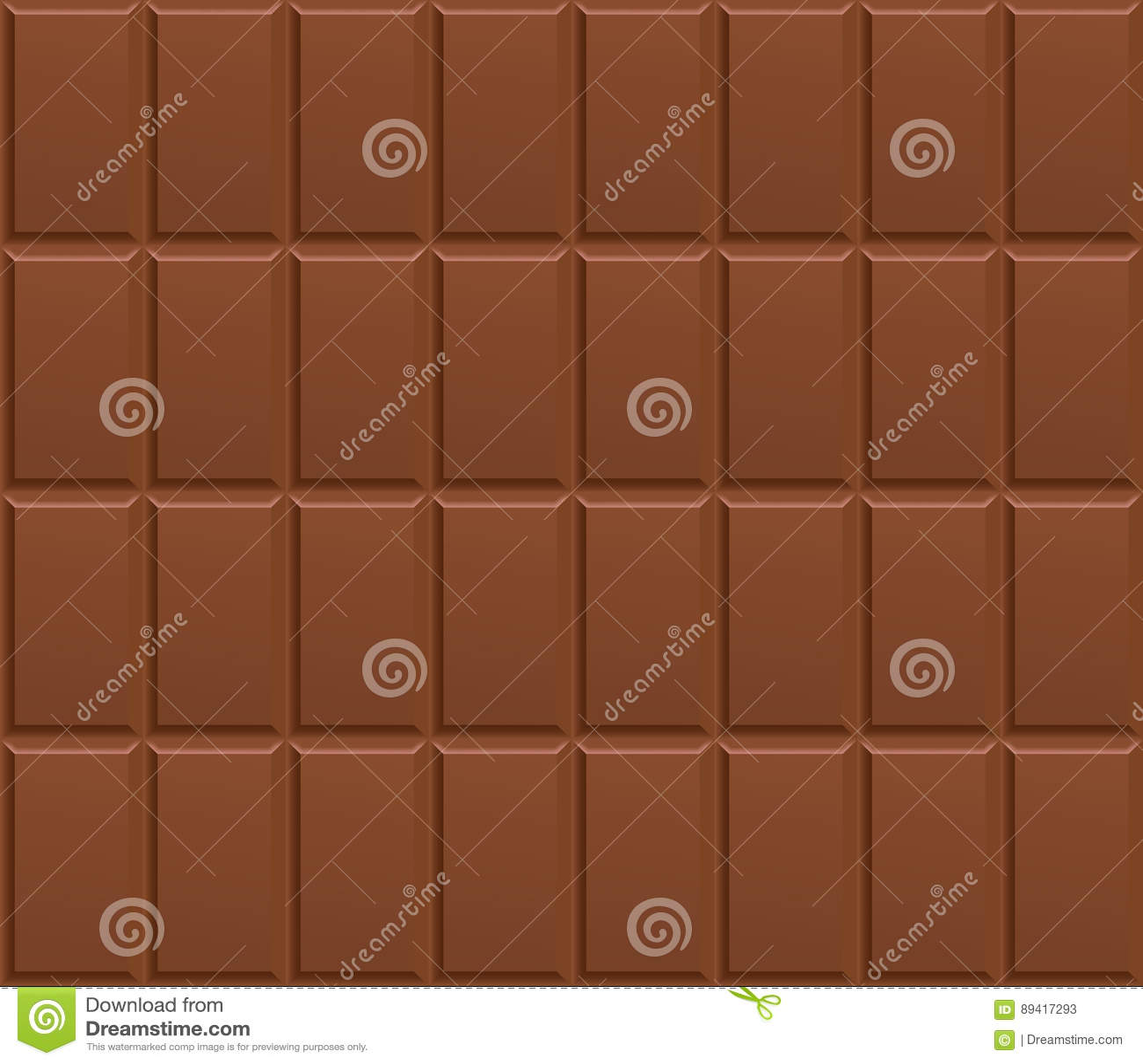 Naadloos chocoladereeppatroon