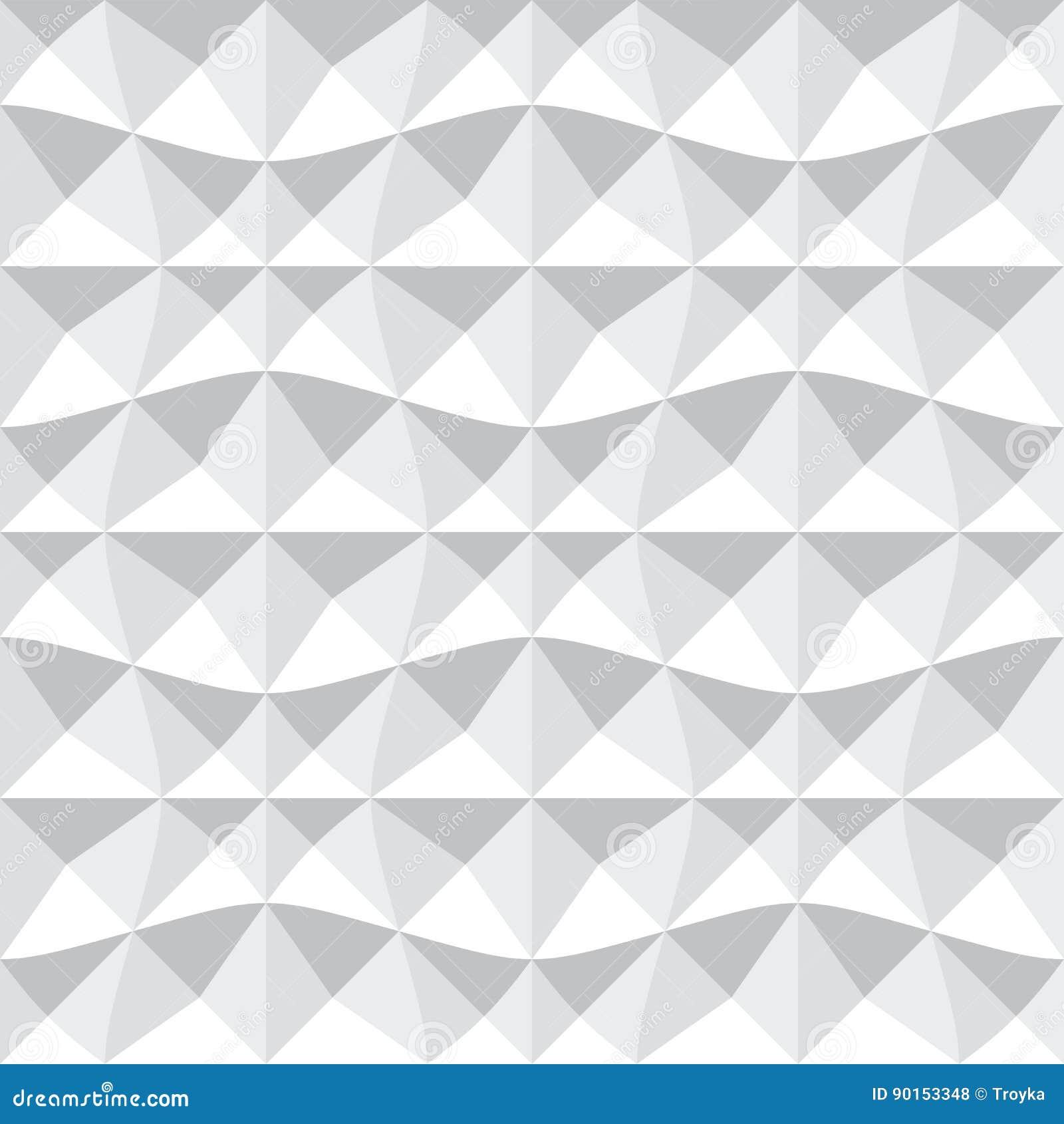 Naadloos 3d geometrisch patroon
