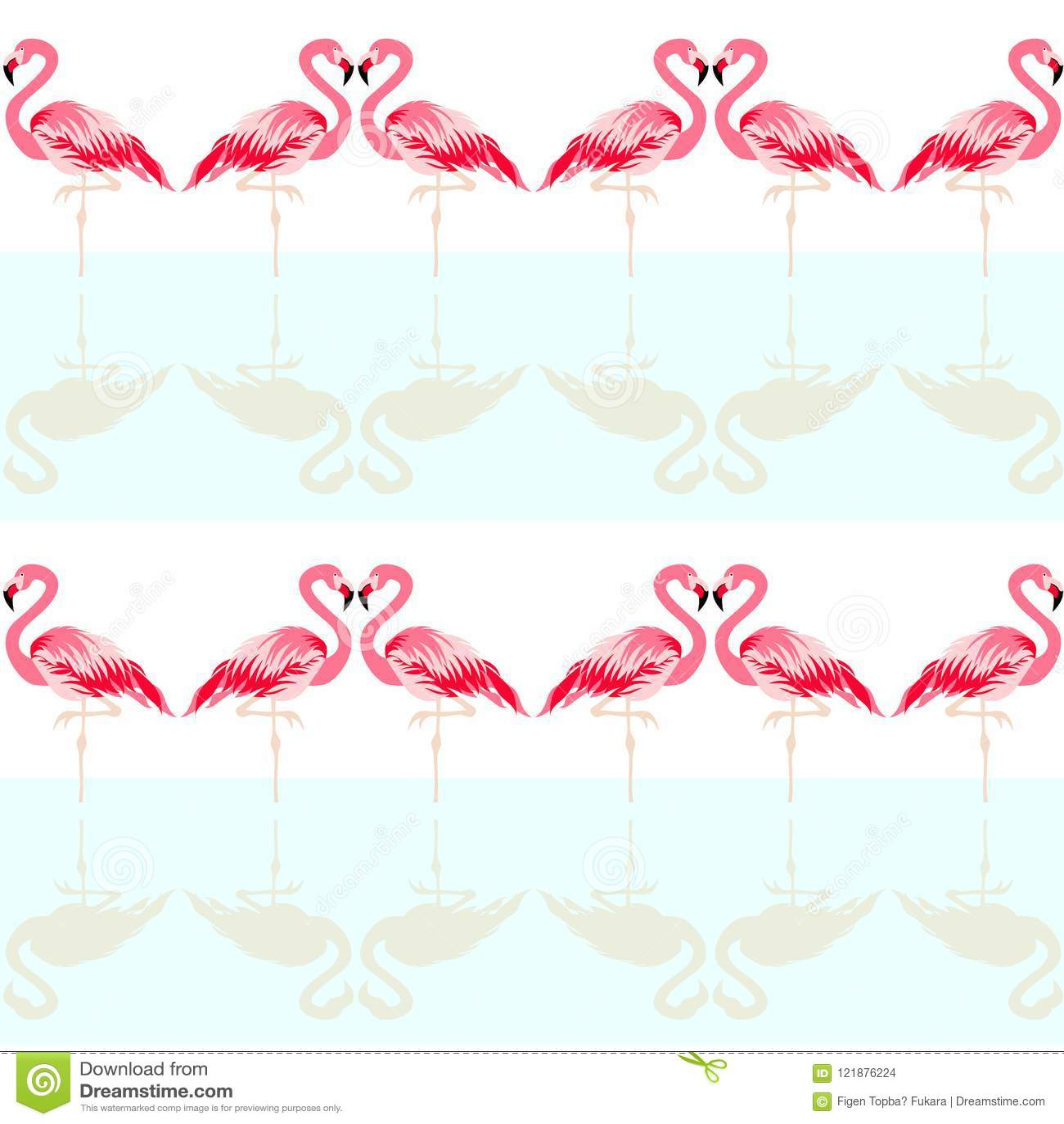 Naadloos de zomer tropisch patroon met leuke flamingovogel