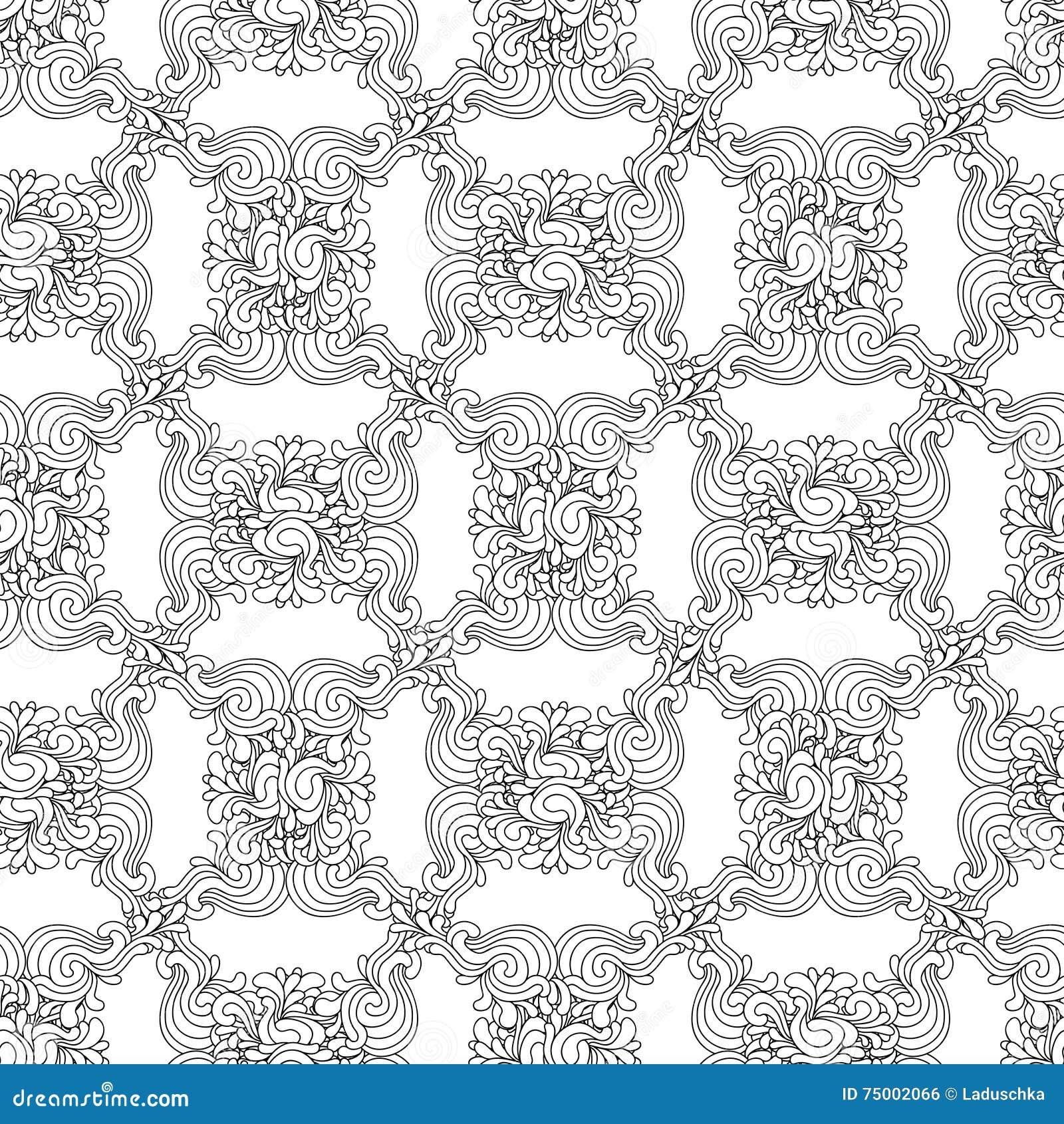 Naadloos decoratief zentangle grafisch patroon