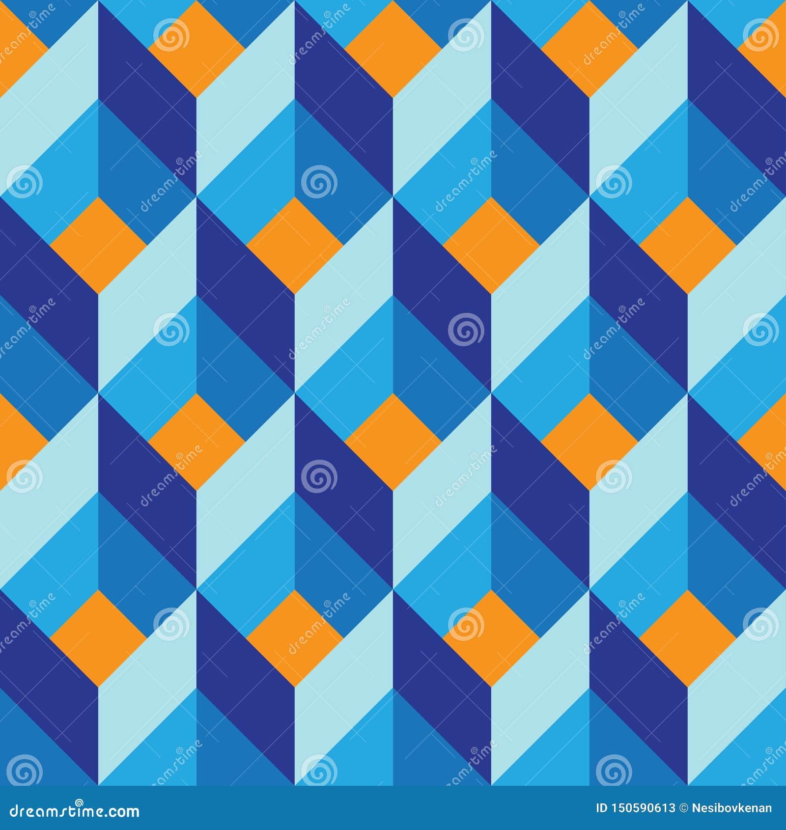 Naadloos geometrisch kleurrijk vector vlak patroon