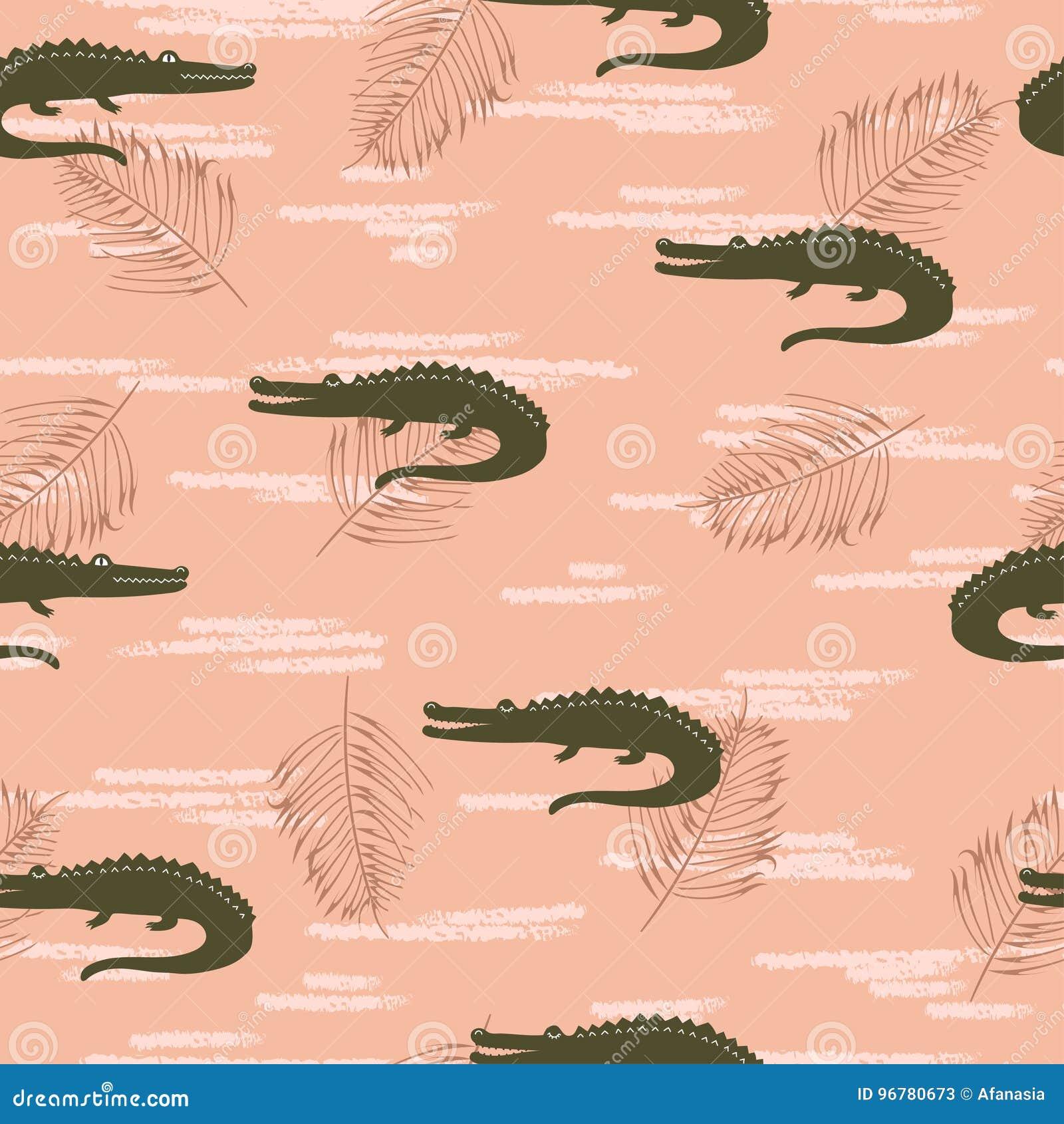 Naadloos krokodillenpatroon