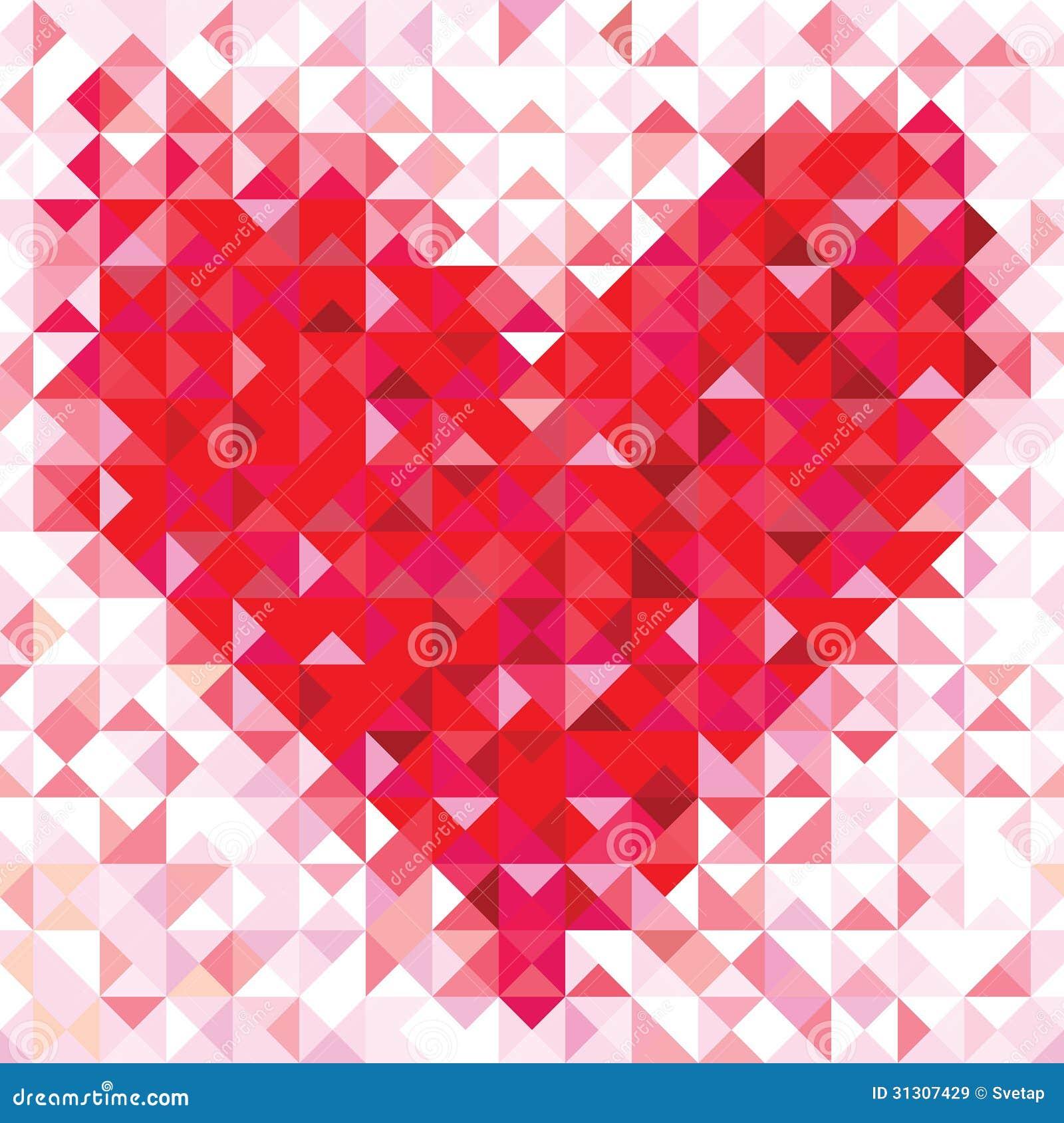 Naadloos liefdepatroon van geometrisch hart