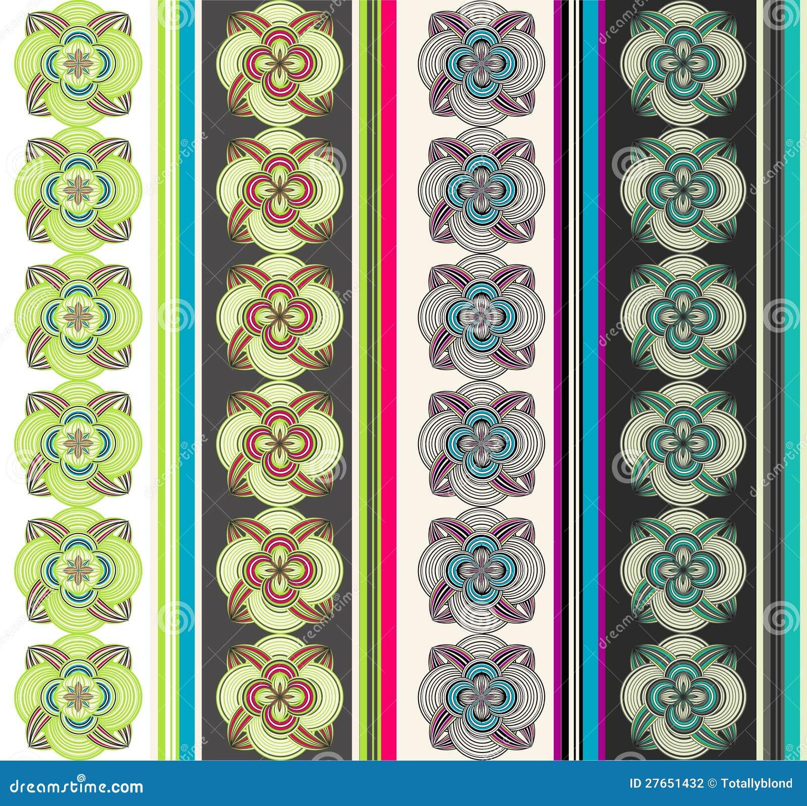 Naadloos oosters behang stock fotografie afbeelding 27651432 - Oosters stof ...