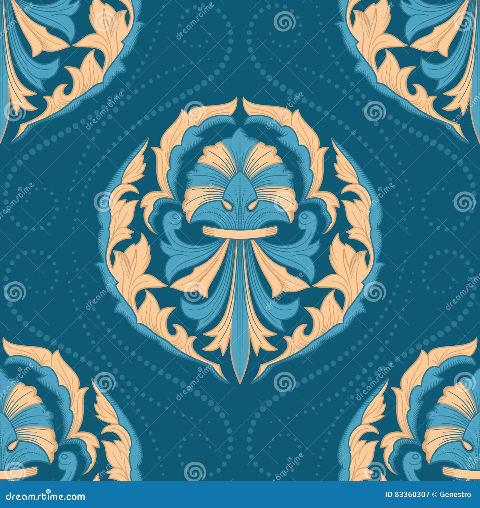 Naadloos oosters behang vector illustratie afbeelding 83360307 - Behang grafisch ontwerp ...