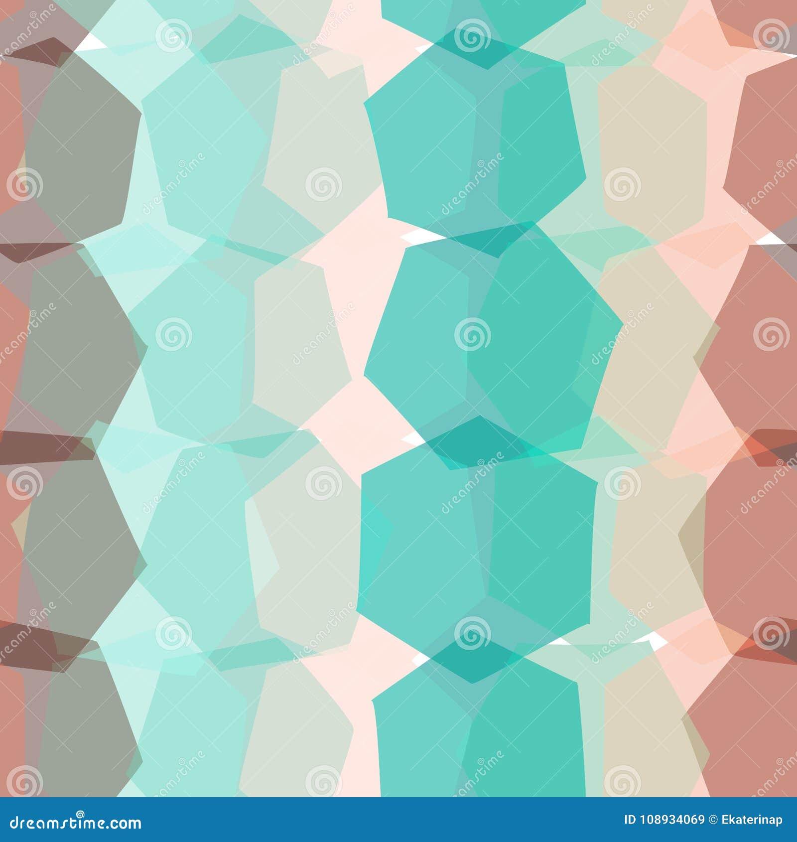 Naadloos patroon bruine oranje roze blauwe beige druk, van de hipsterachtergrond van Geo de etnische moderne in Geometrische abst