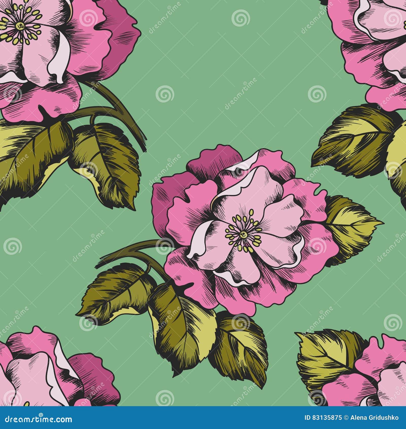 Naadloos patroon met bloemen peons voor druk op document of stof