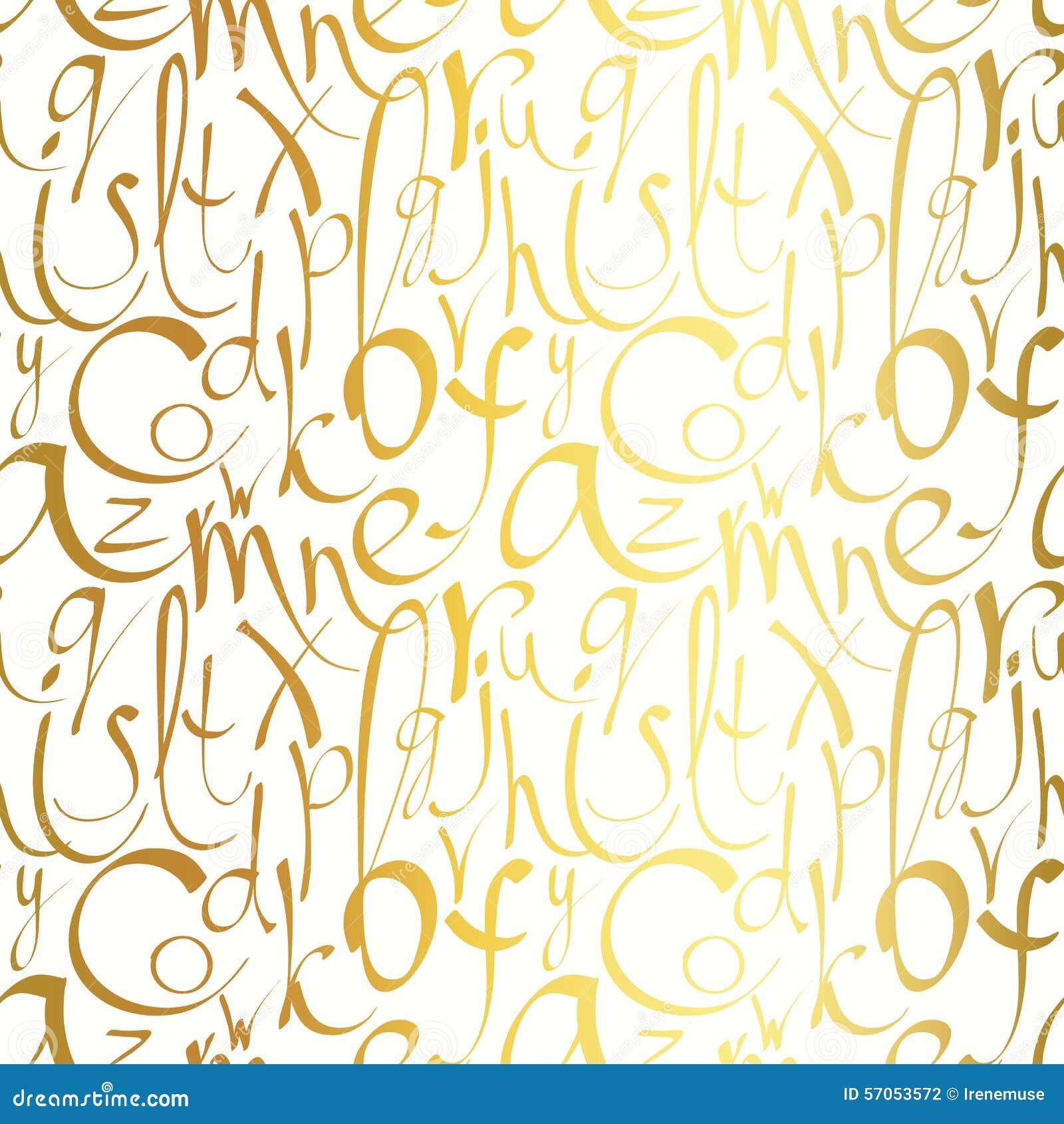 Naadloos patroon met hand getrokken brieven