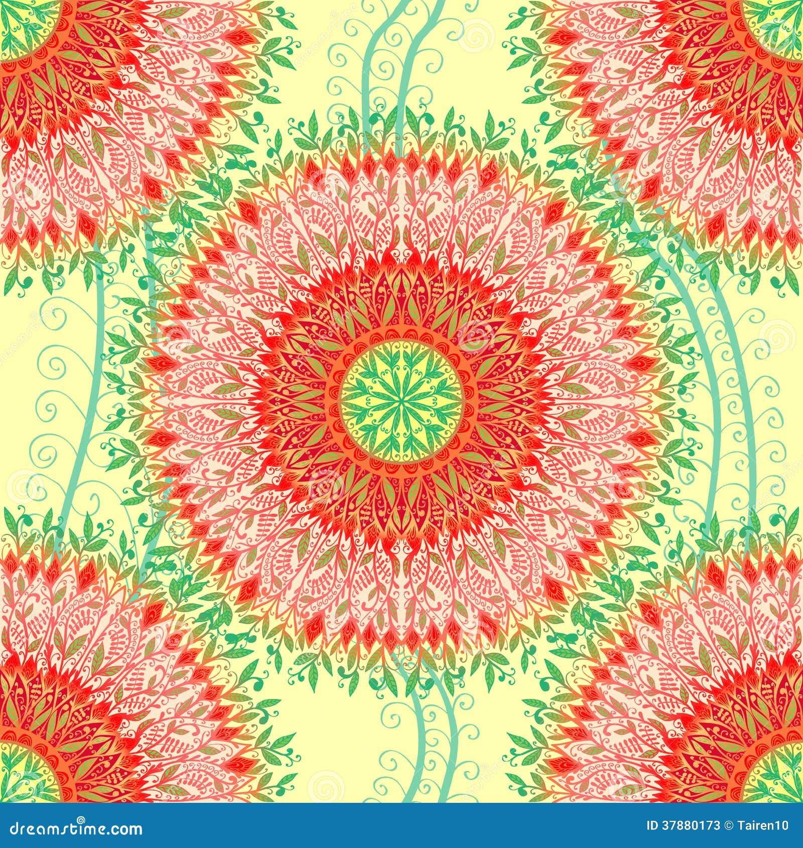 Naadloos patroon met heldere bloemen