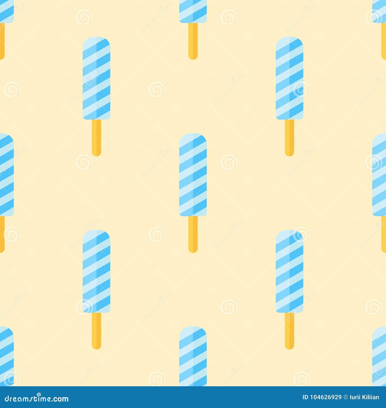 Download Naadloos Patroon Met Ijslollys Op Gele Achtergrond Vector Illustratie - Illustratie bestaande uit mandarin, pakket: 104626929