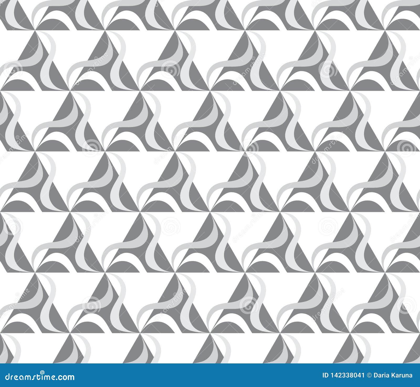 Naadloos patroon met roterende cijfers Optische illusie van beweging van vormen in ruimte