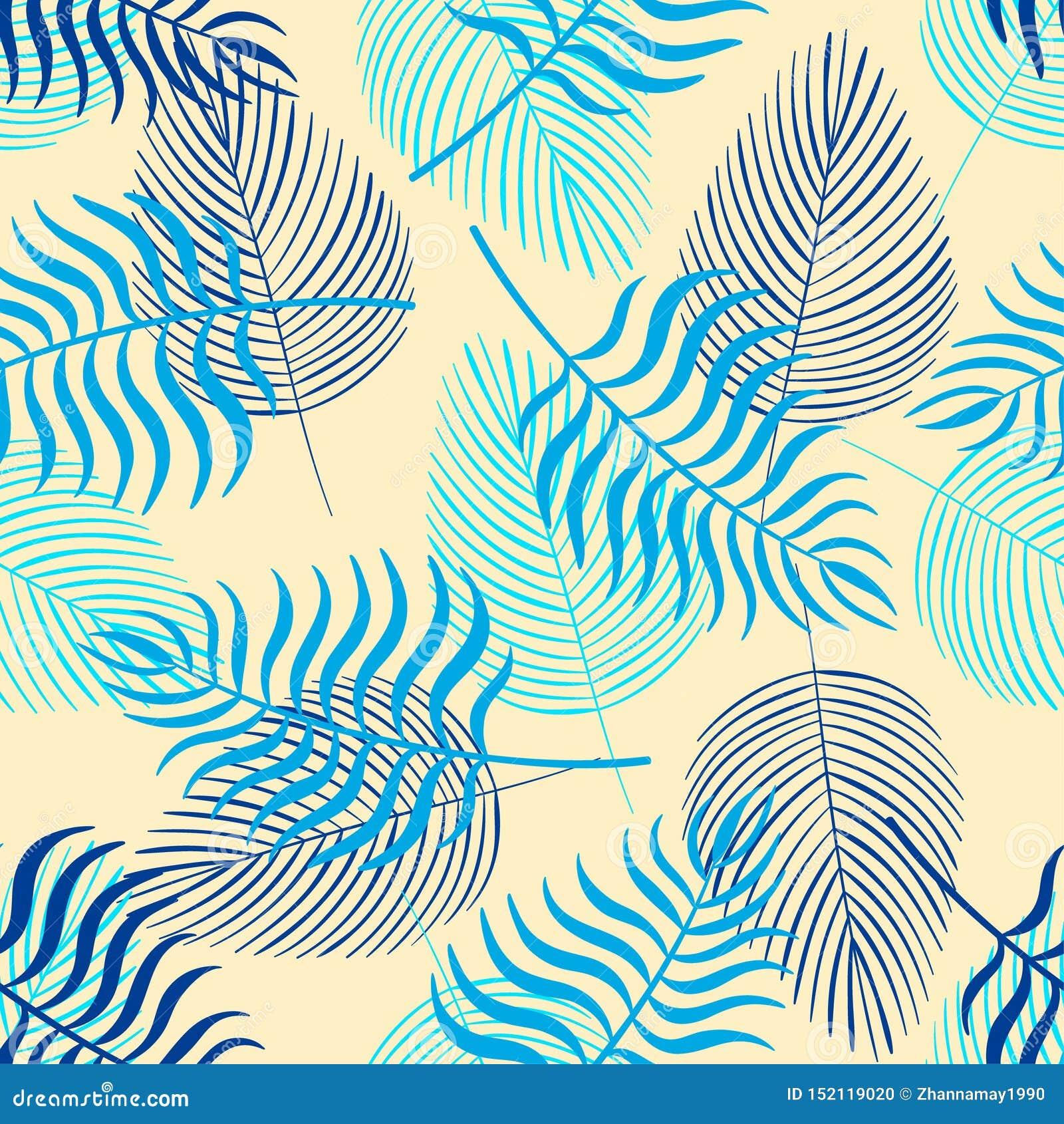 In naadloos patroon met tropische bladeren