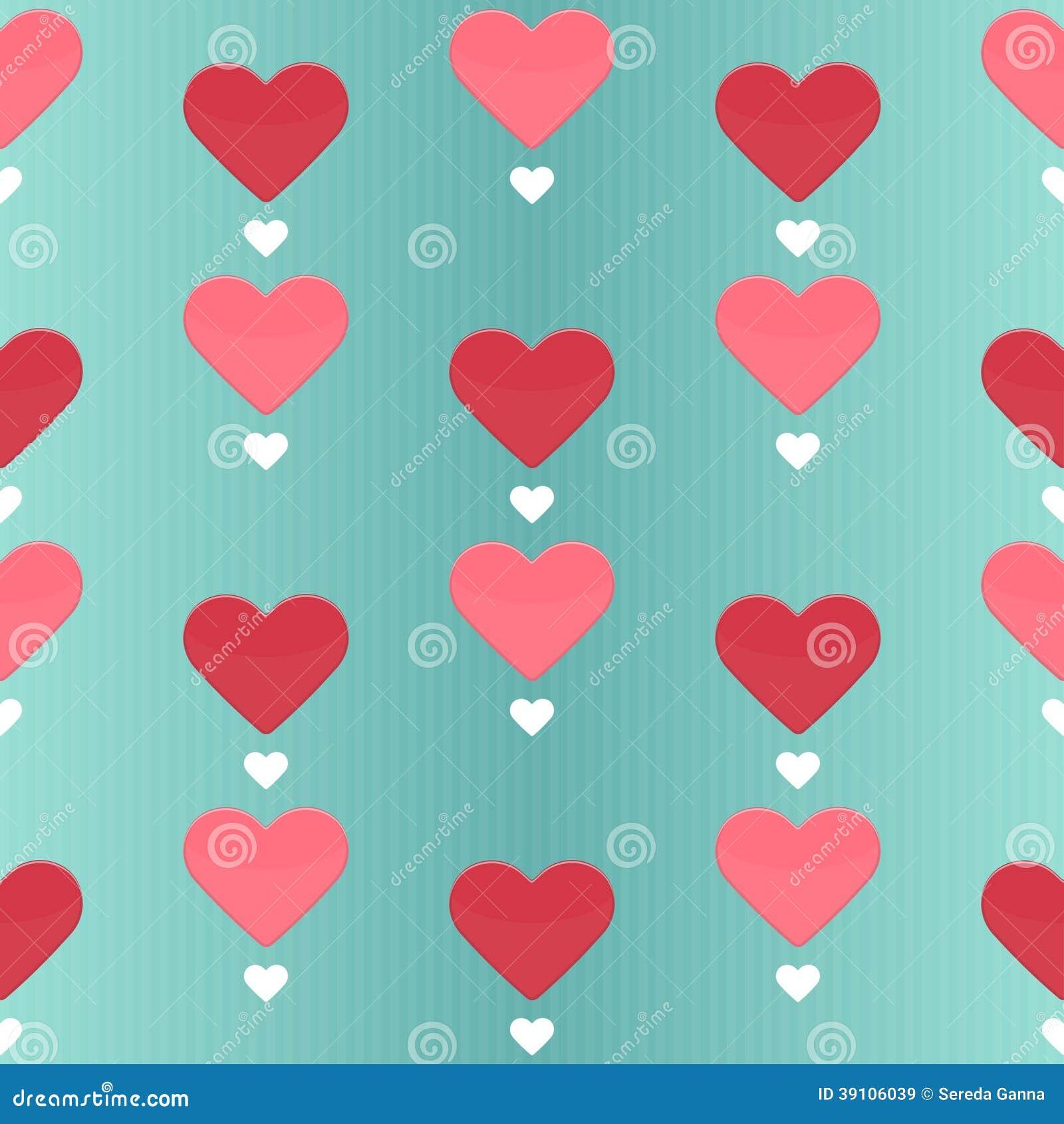 Naadloos patroon met vele liefjes