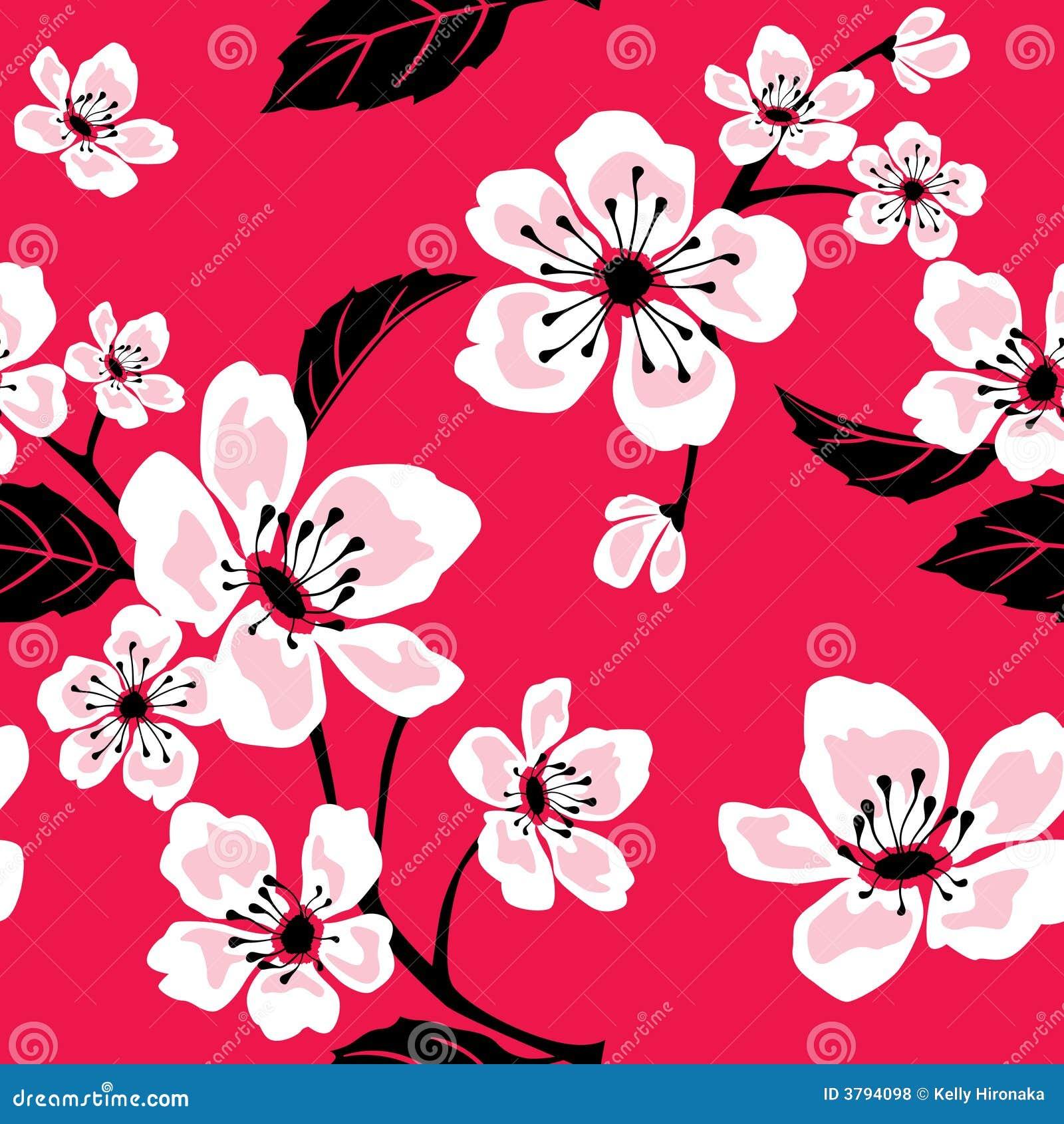 Naadloos Patroon Sakura