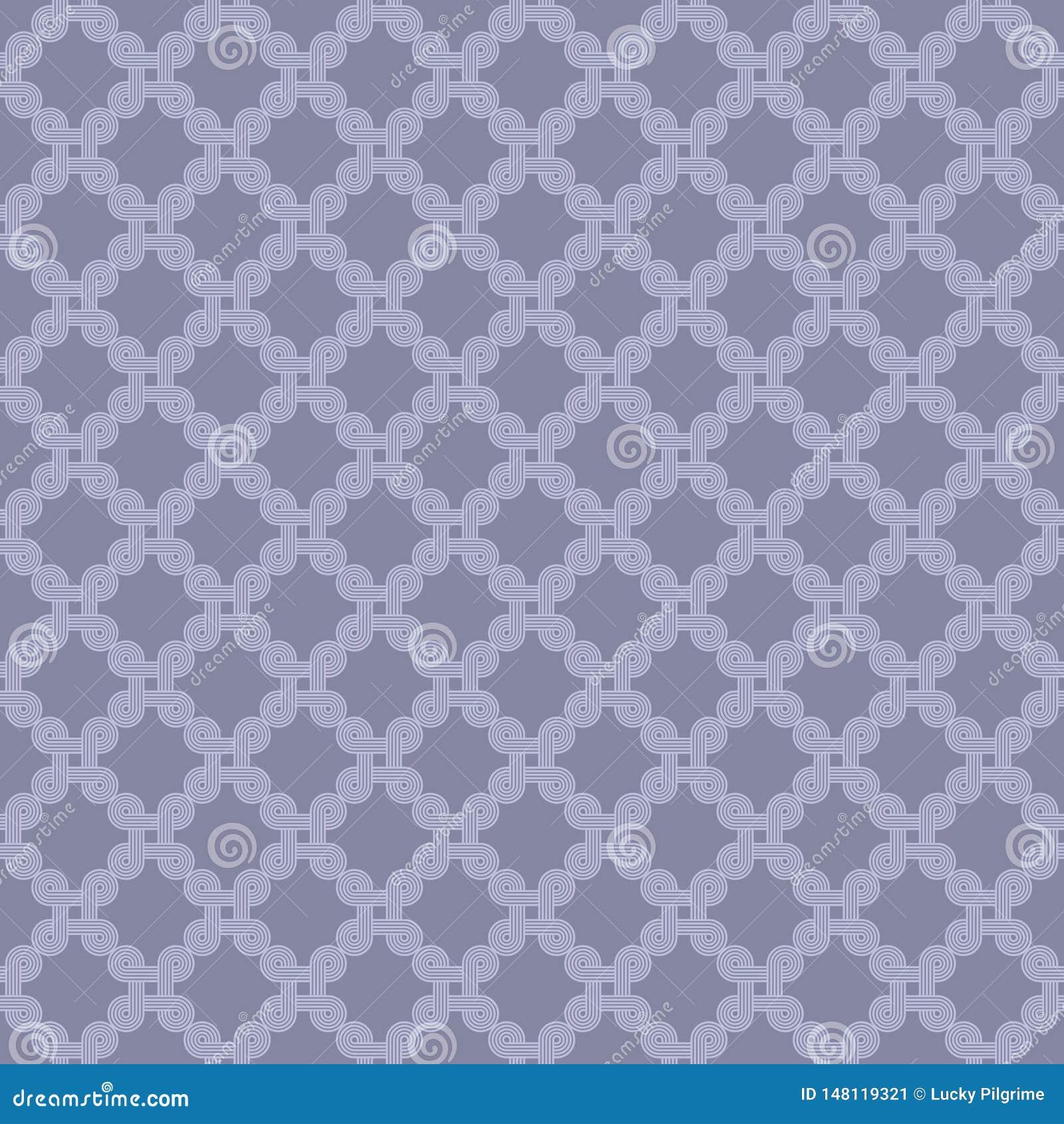 Naadloos patroon van abstracte lijn