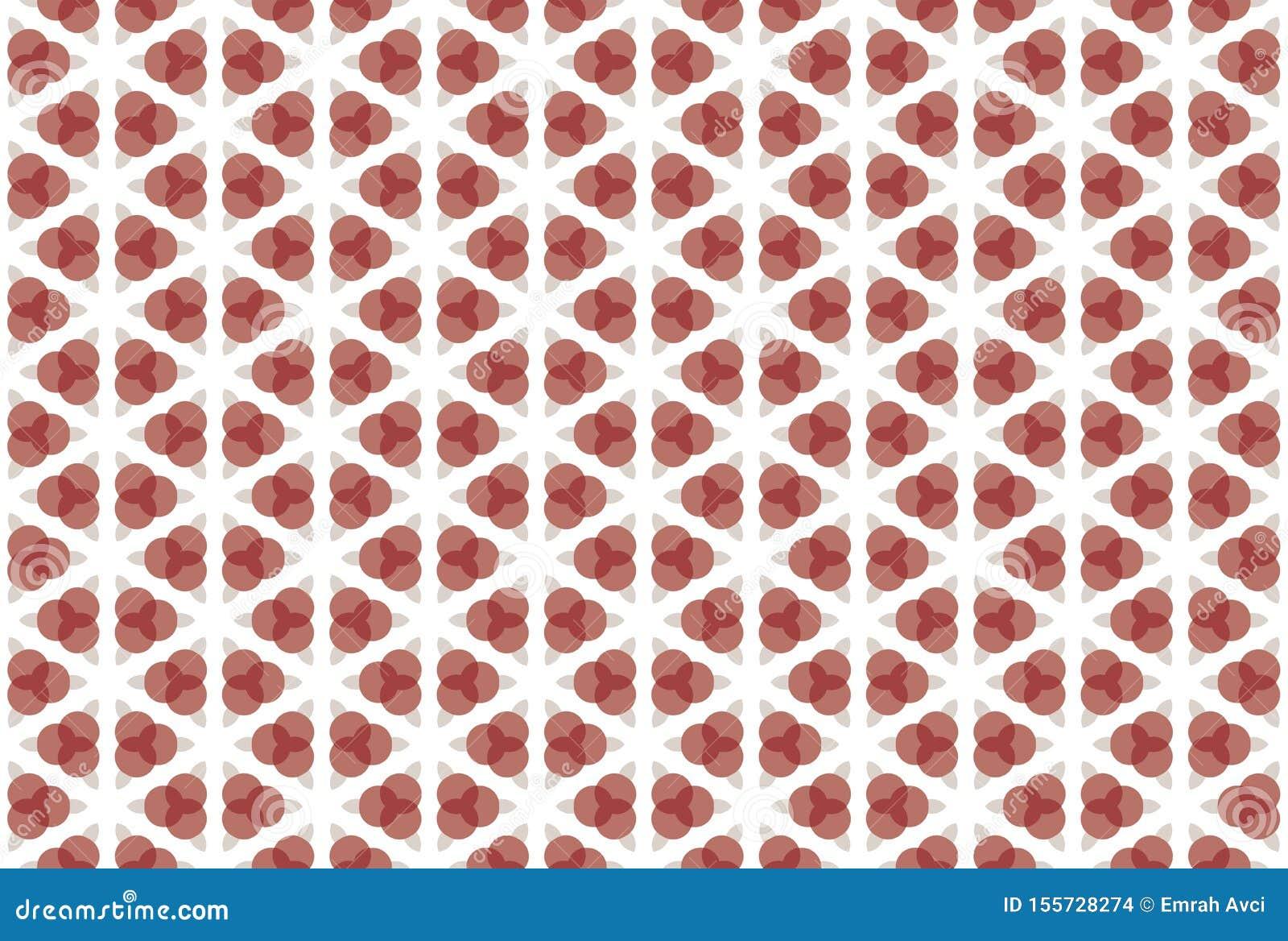 Naadloos patroon Witte achtergrond, geometrisch, gestalte gegeven drie overlappende cirkels, rond gemaakte diamanten in licht en