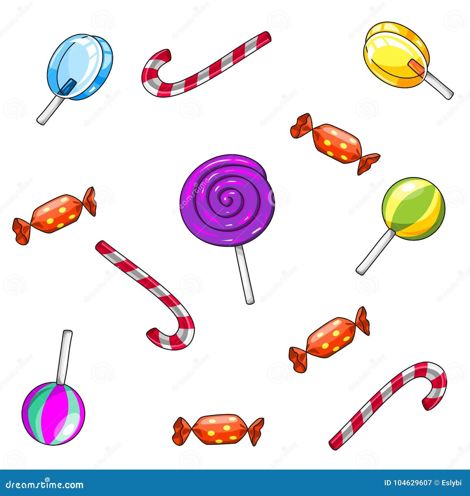Download Naadloos Suikergoedpatroon Op Witte Achtergrond Vector Illustratie - Illustratie bestaande uit seizoen, december: 104629607