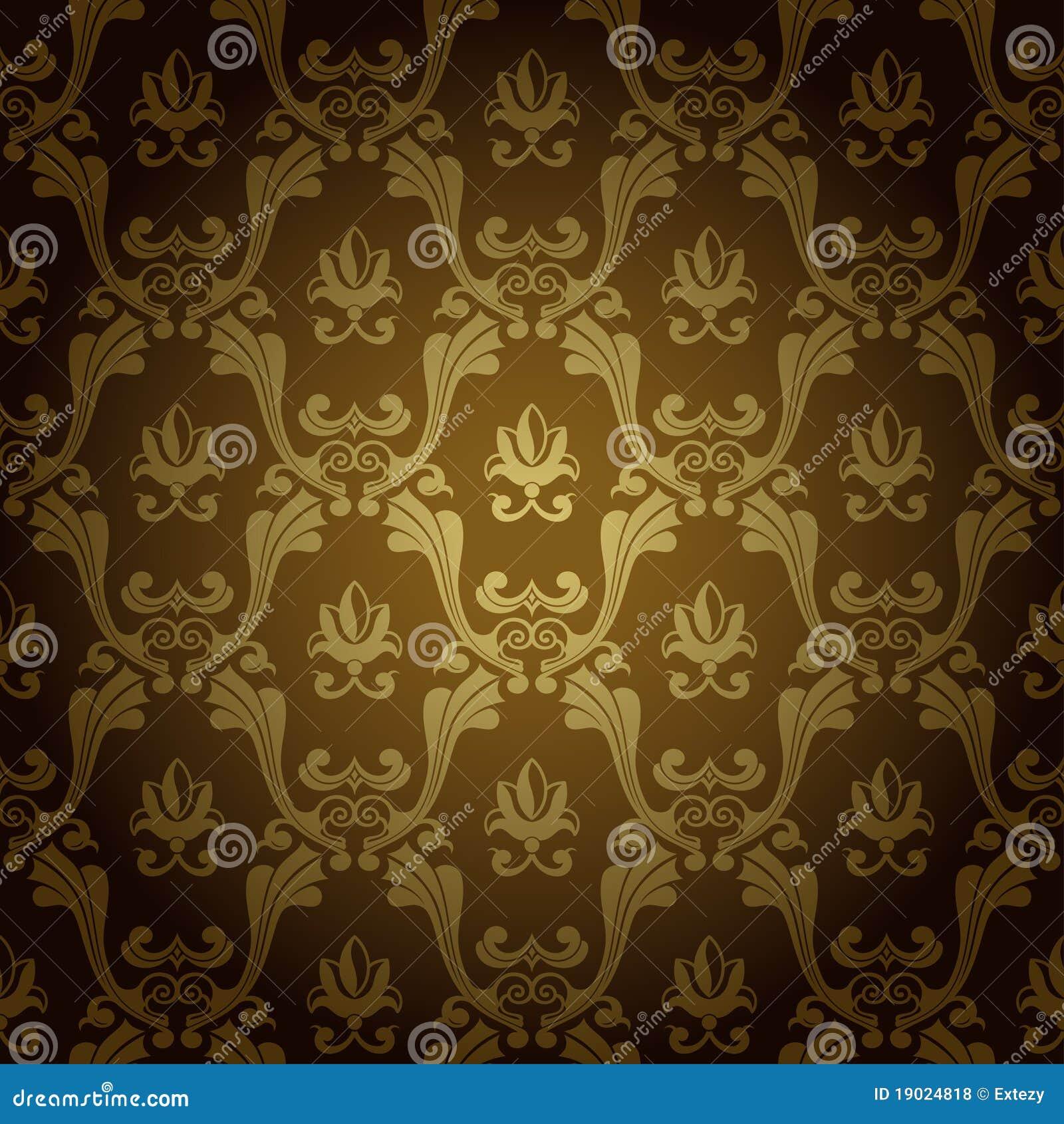 Naadloos uitstekend behang oud goud als achtergrond royalty vrije stock foto 39 s afbeelding - Behang zwart en goud ...