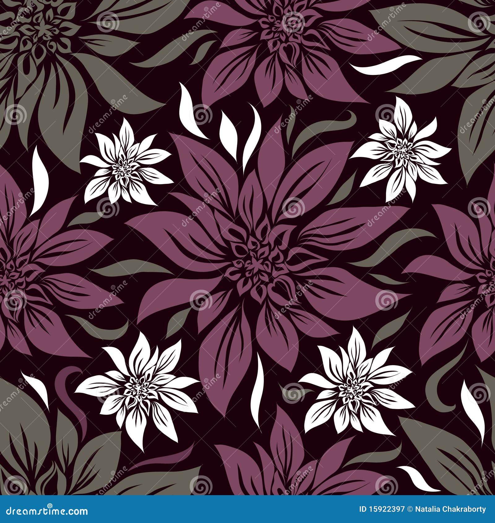 Naadloos uitstekend bloemenpatroon met lilly