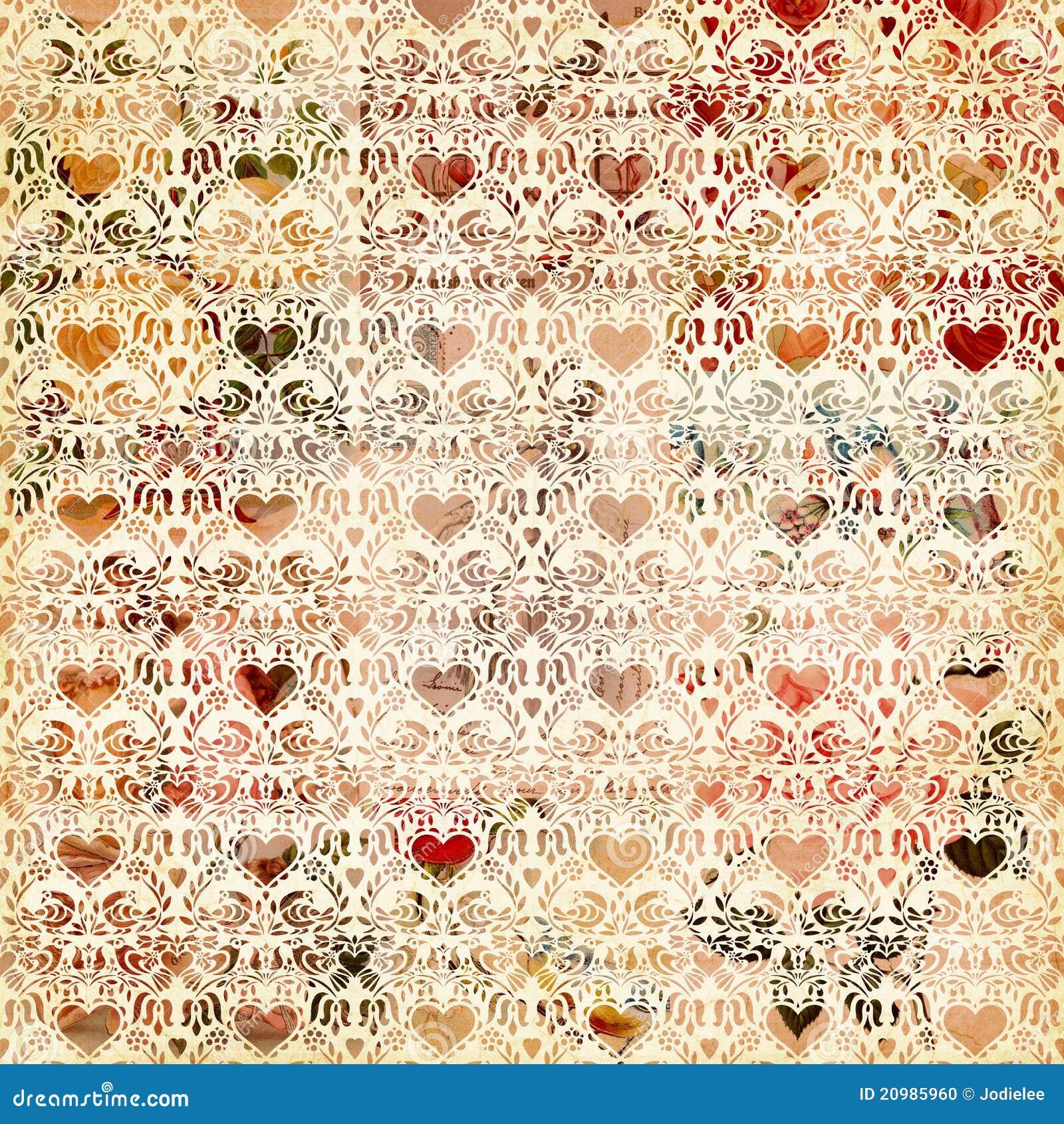 Naadloos uitstekend van het hartpatroon ontwerp als achtergrond