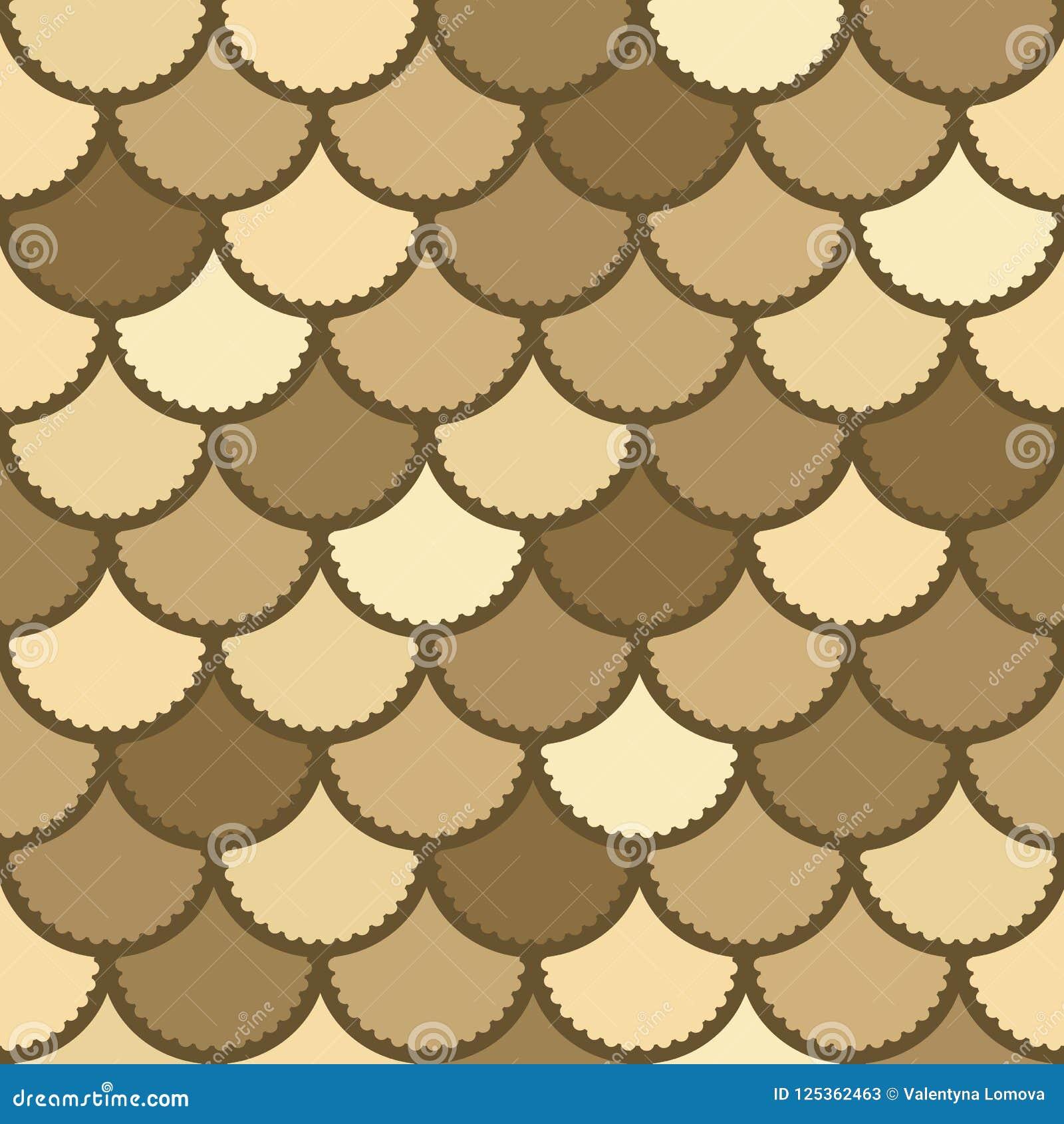 Naadloos vectormeerminpatroon als magische achtergrond van de vissenschaal voor textiel, affiches, groetkaarten, gevallen enz.