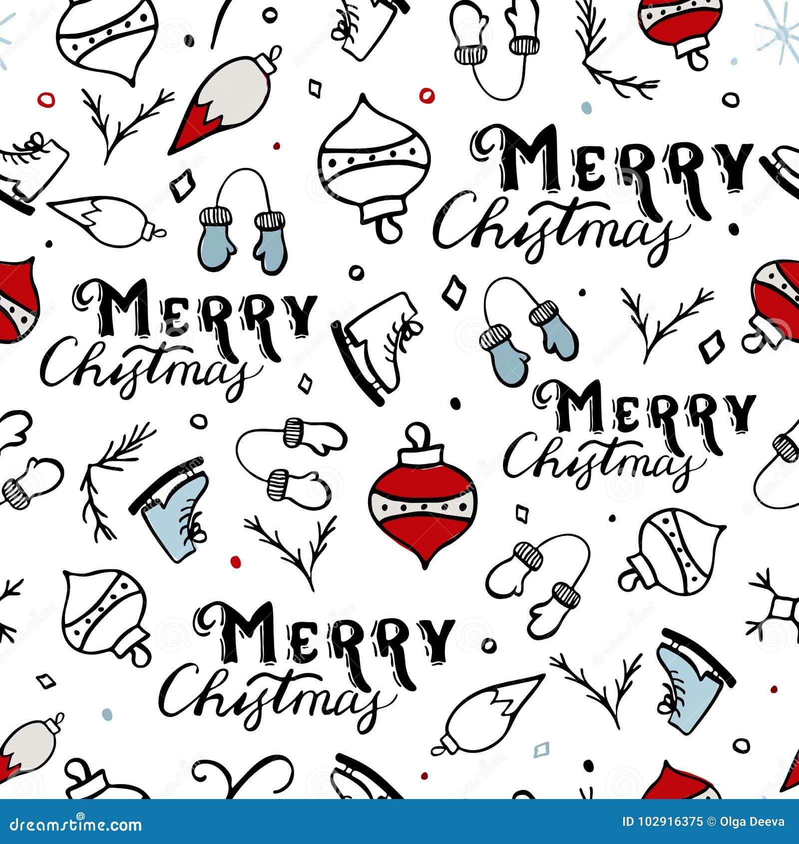 Naadloos Vrolijk Kerstmispatroon