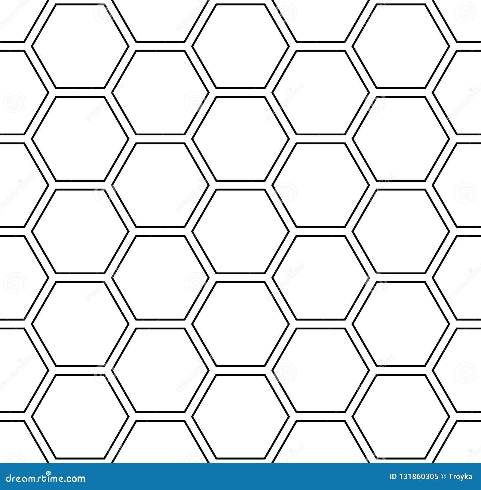 Naadloos zeshoekenpatroon Witte geometrische achtergrond