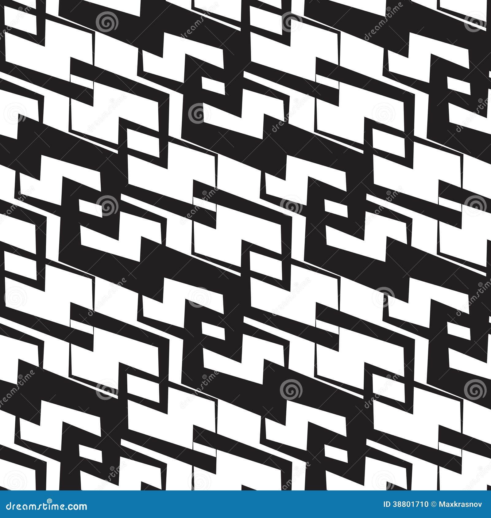 Naadloos Zwart-wit Behang Vector Illustratie - Afbeelding: 38801710