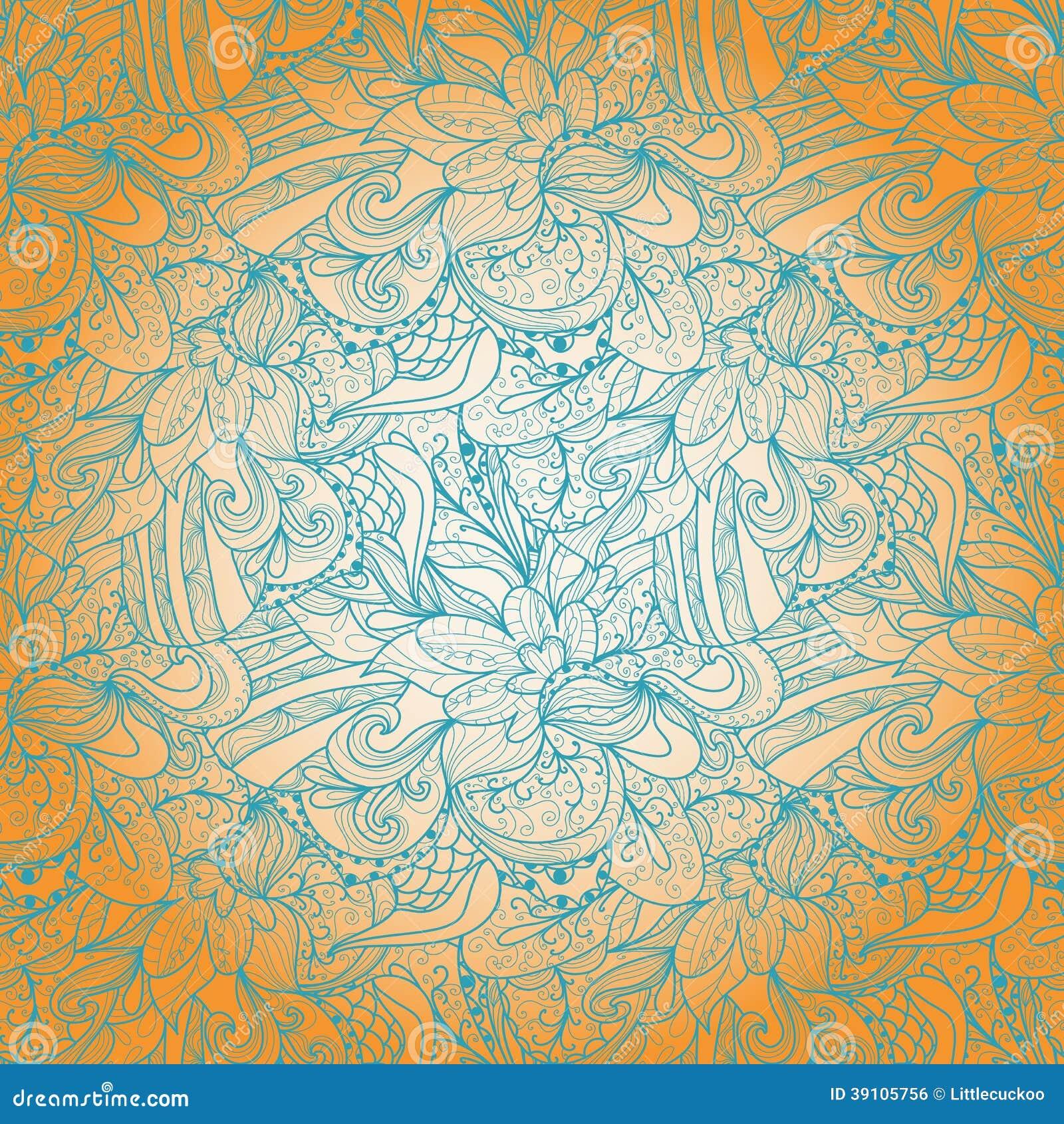 Naadloze abstracte hand-drawn textuur