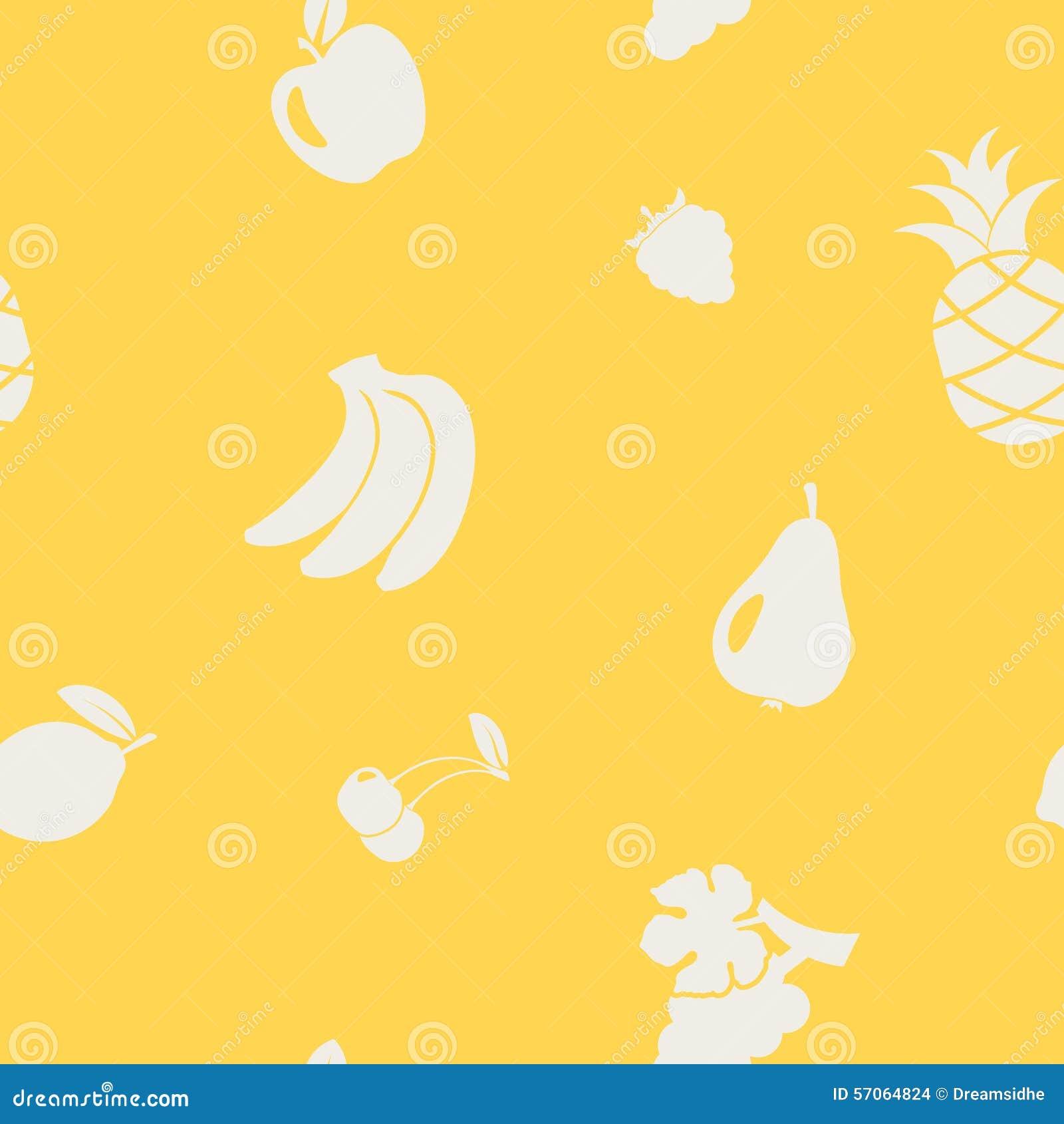 Naadloze achtergrond met vruchten