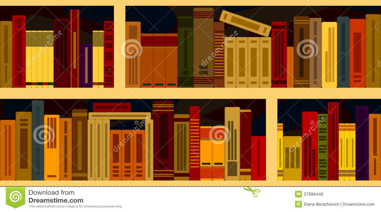 Naadloze achtergrond van boekenrekken