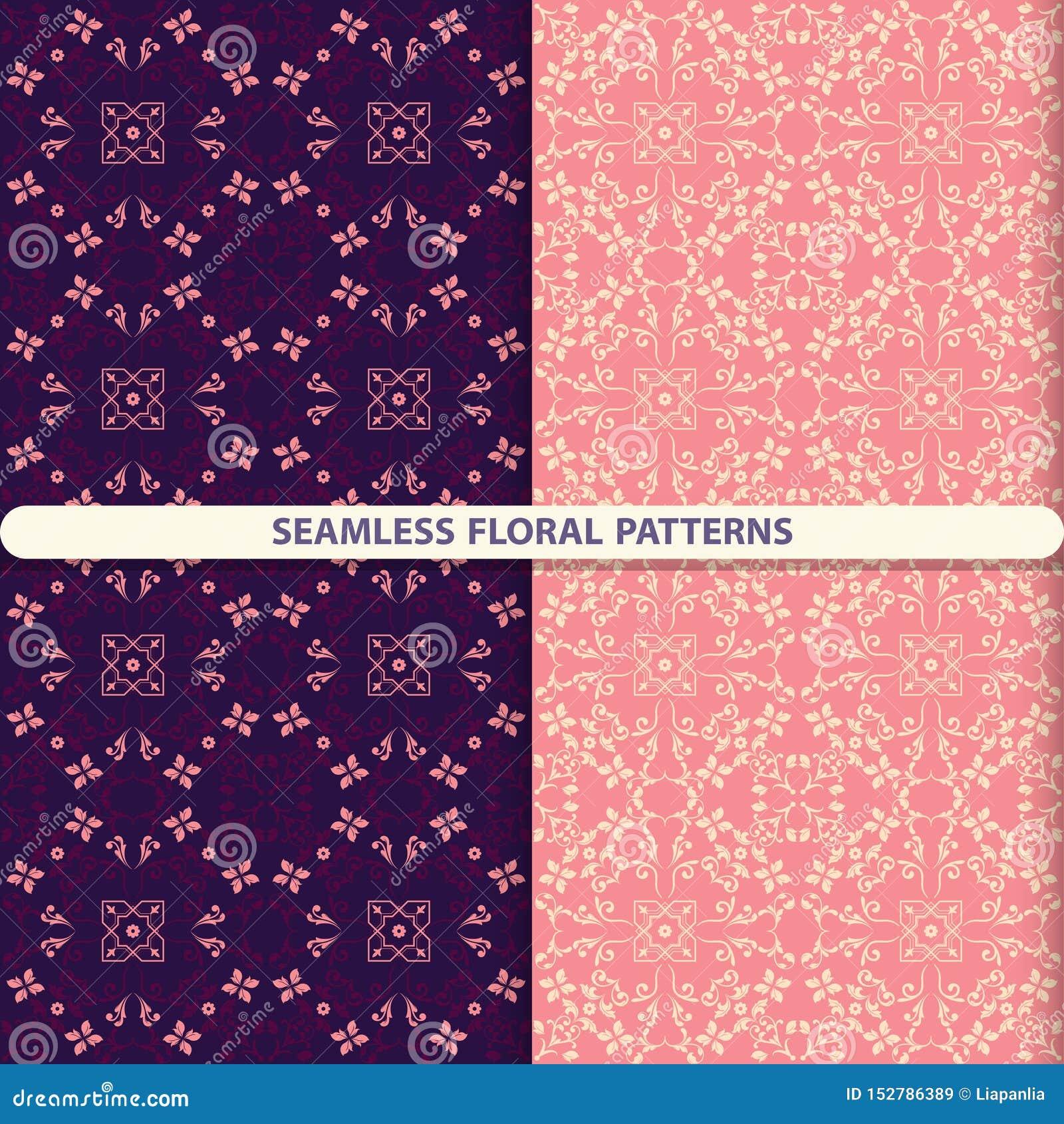Naadloze bloemenpatronen met bloemen en botanische elementen Bloemtextuur Keukentextiel, druk voor textiel, behang desig
