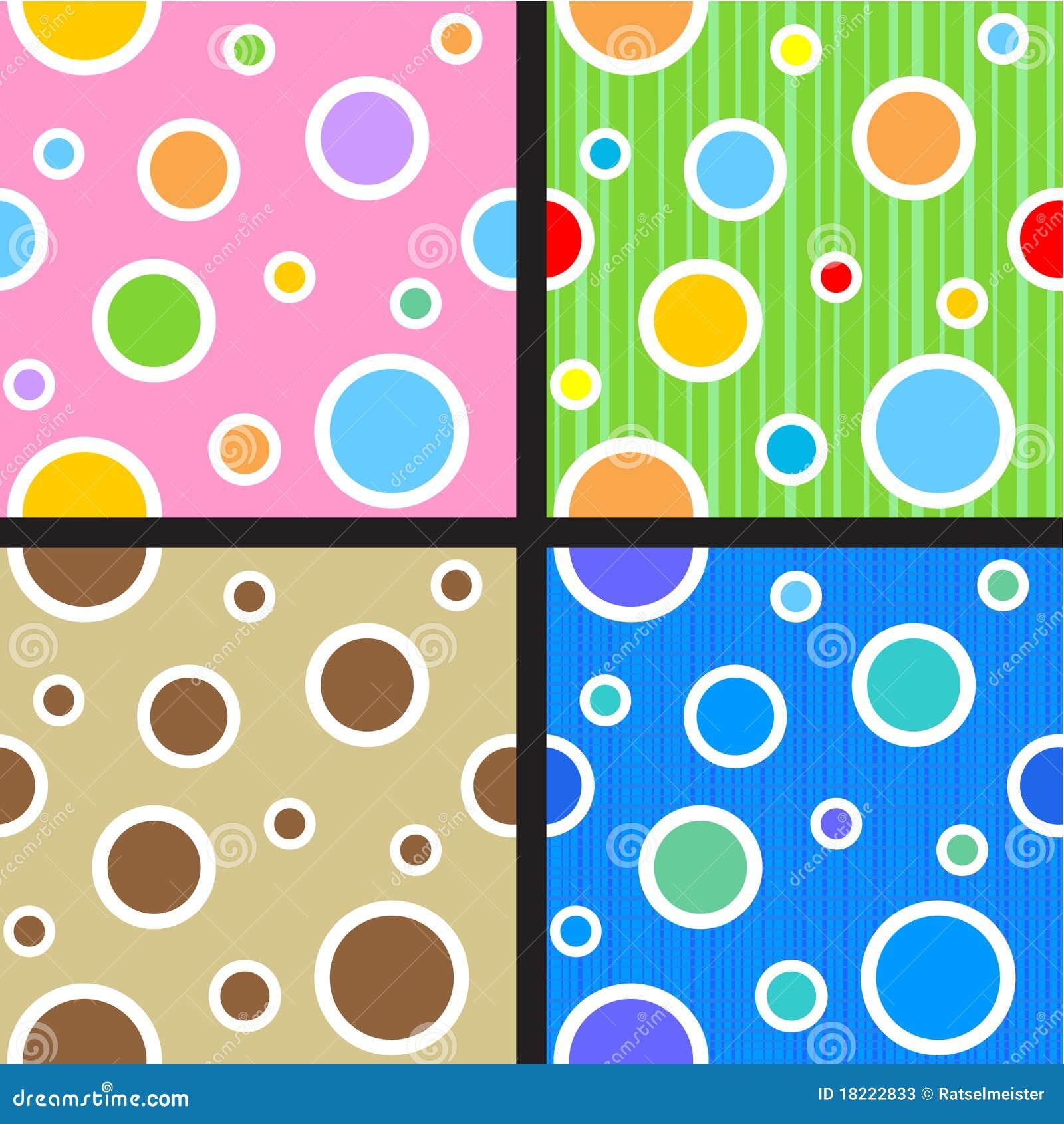 Naadloze cirkels en puntenpatronen