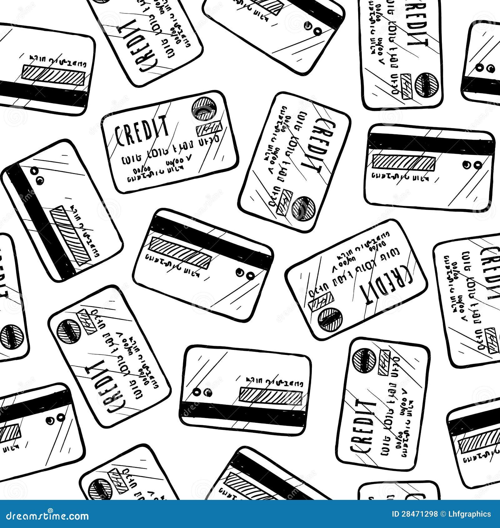 Naadloze creditcardachtergrond