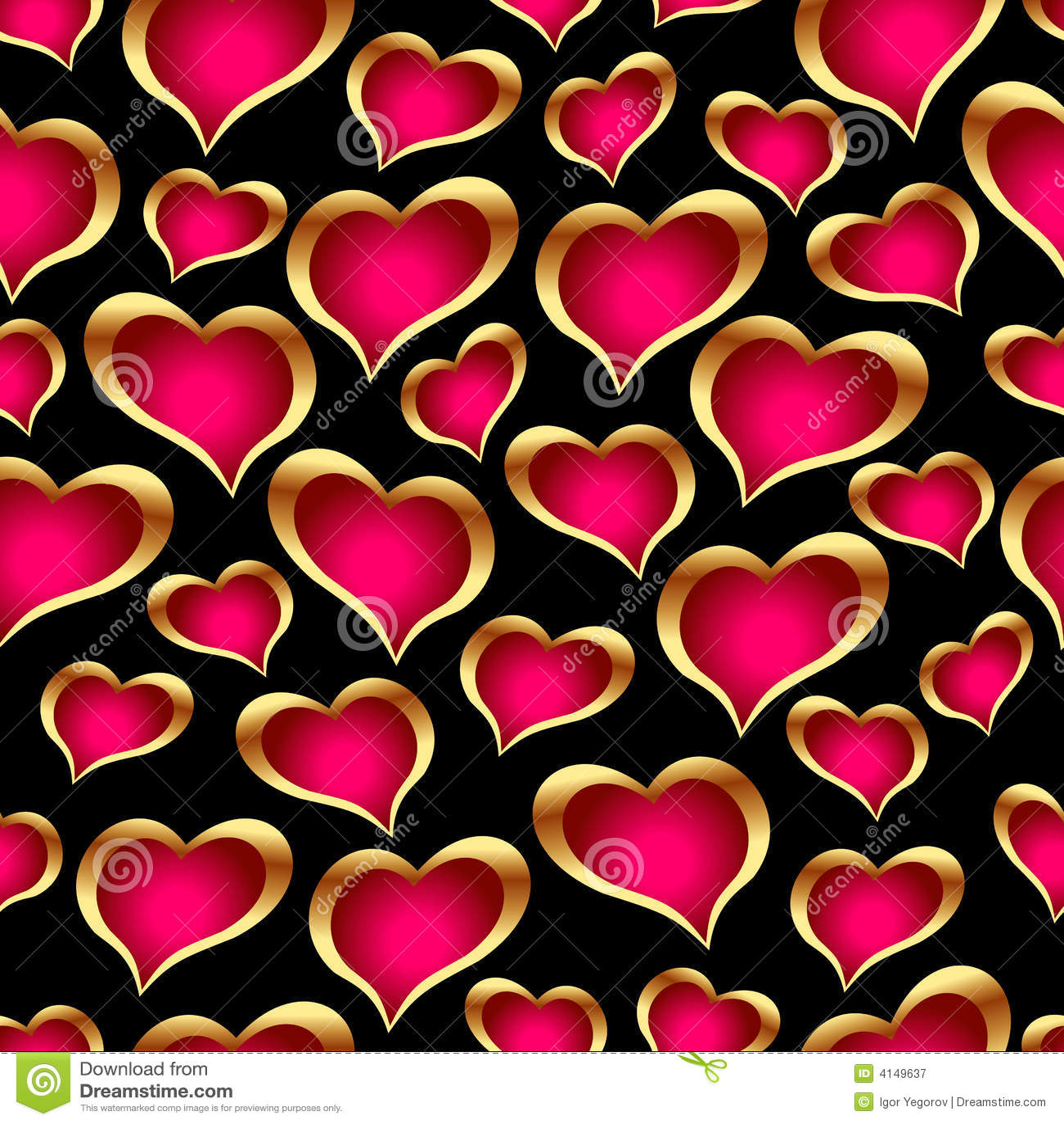 Naadloze gouden harten