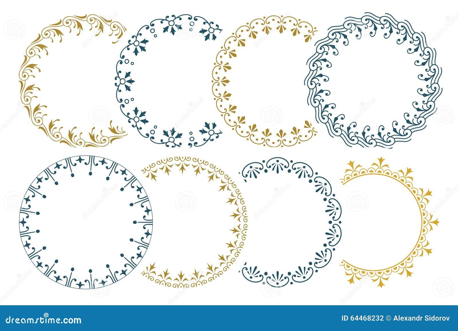Naadloze grens 8 voor decoratie en ontwerp inbegrepen borstels vector illustratie afbeelding - Decoratie ontwerp kantoor ontwerp ...