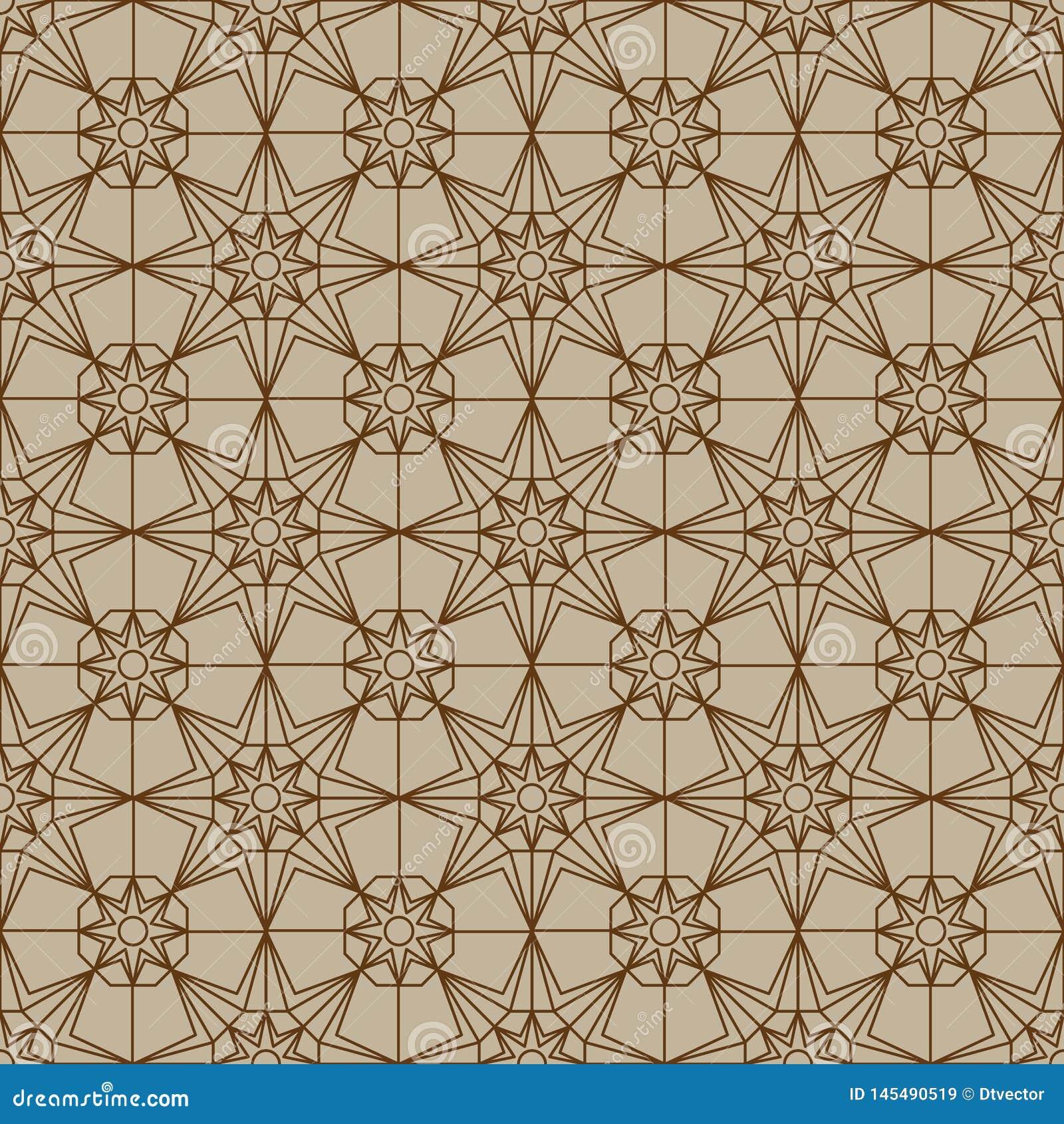Naadloze patroon van de ster hexagon symmetrie